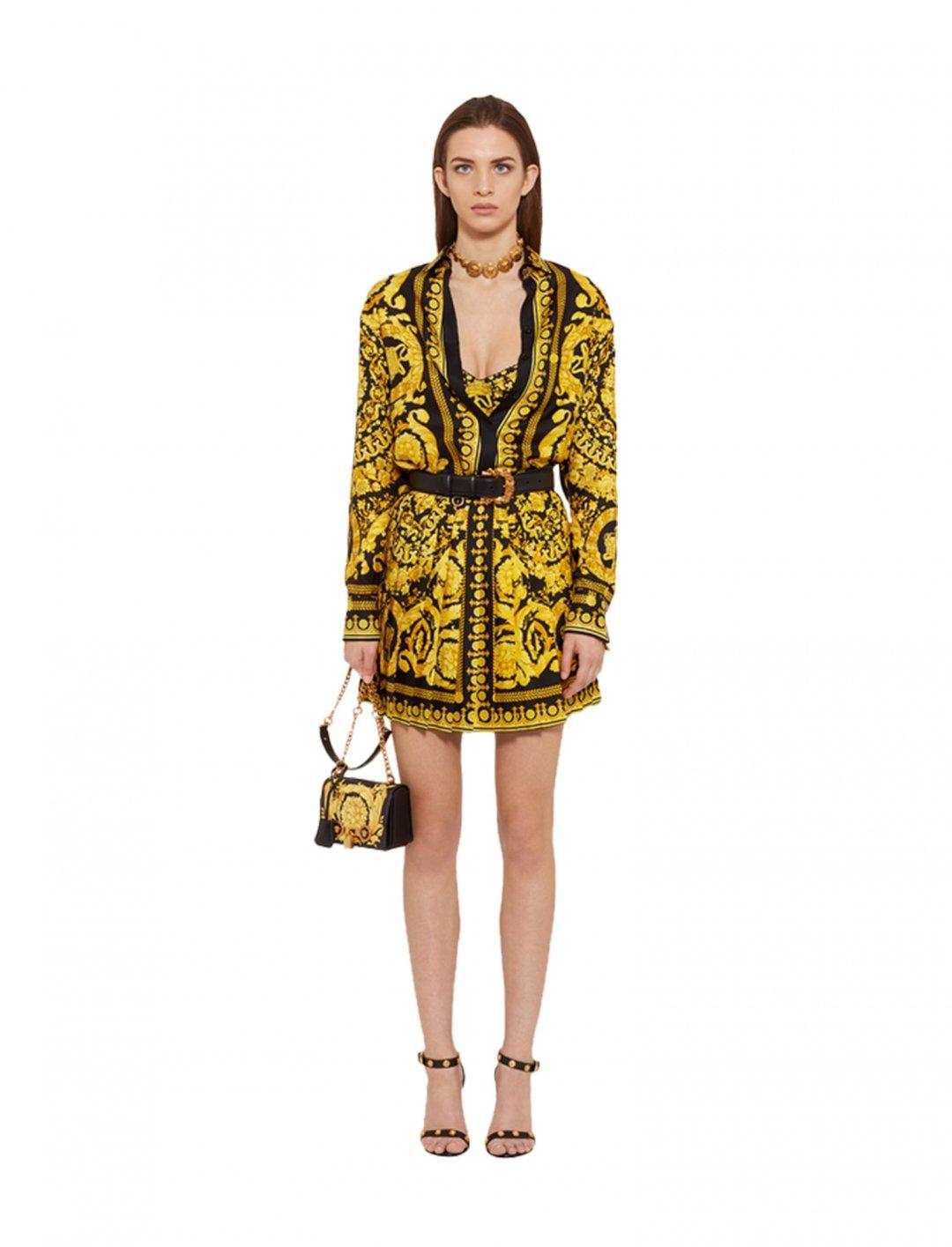 "Cardi B's Print Silk Shirt {""id"":5,""product_section_id"":1,""name"":""Clothing"",""order"":5} Versace"