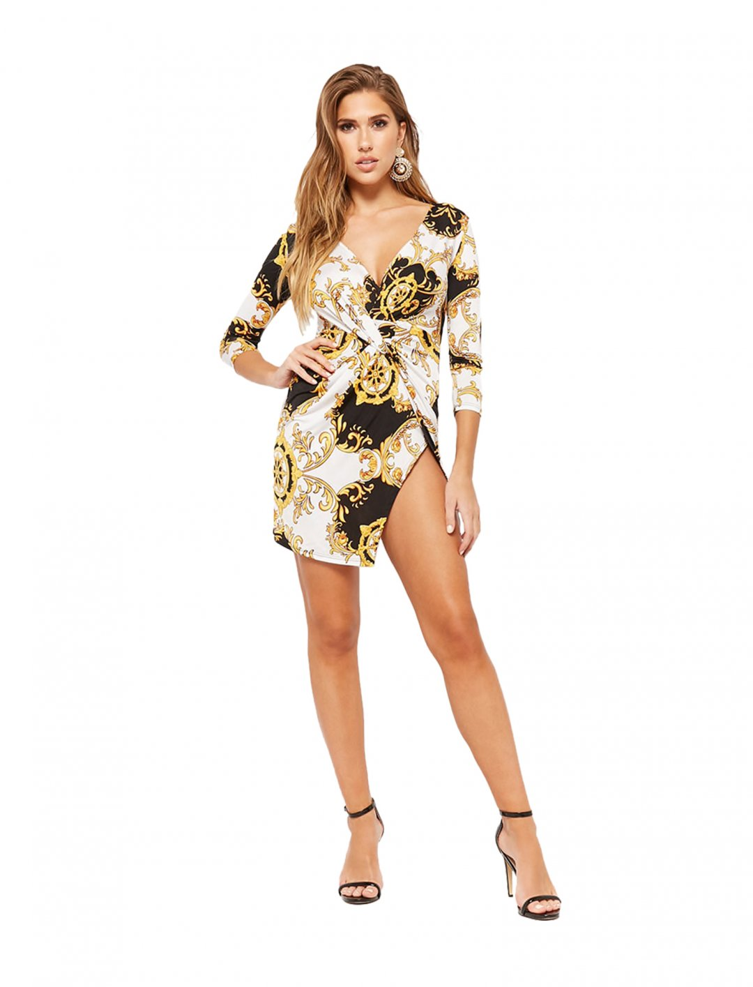"""Forever21 Baroque Print Dress {""""id"""":5,""""product_section_id"""":1,""""name"""":""""Clothing"""",""""order"""":5} Forever21"""