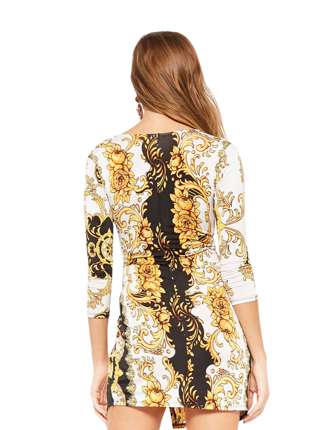 "Forever21 Baroque Print Dress {""id"":5,""product_section_id"":1,""name"":""Clothing"",""order"":5} Forever21"