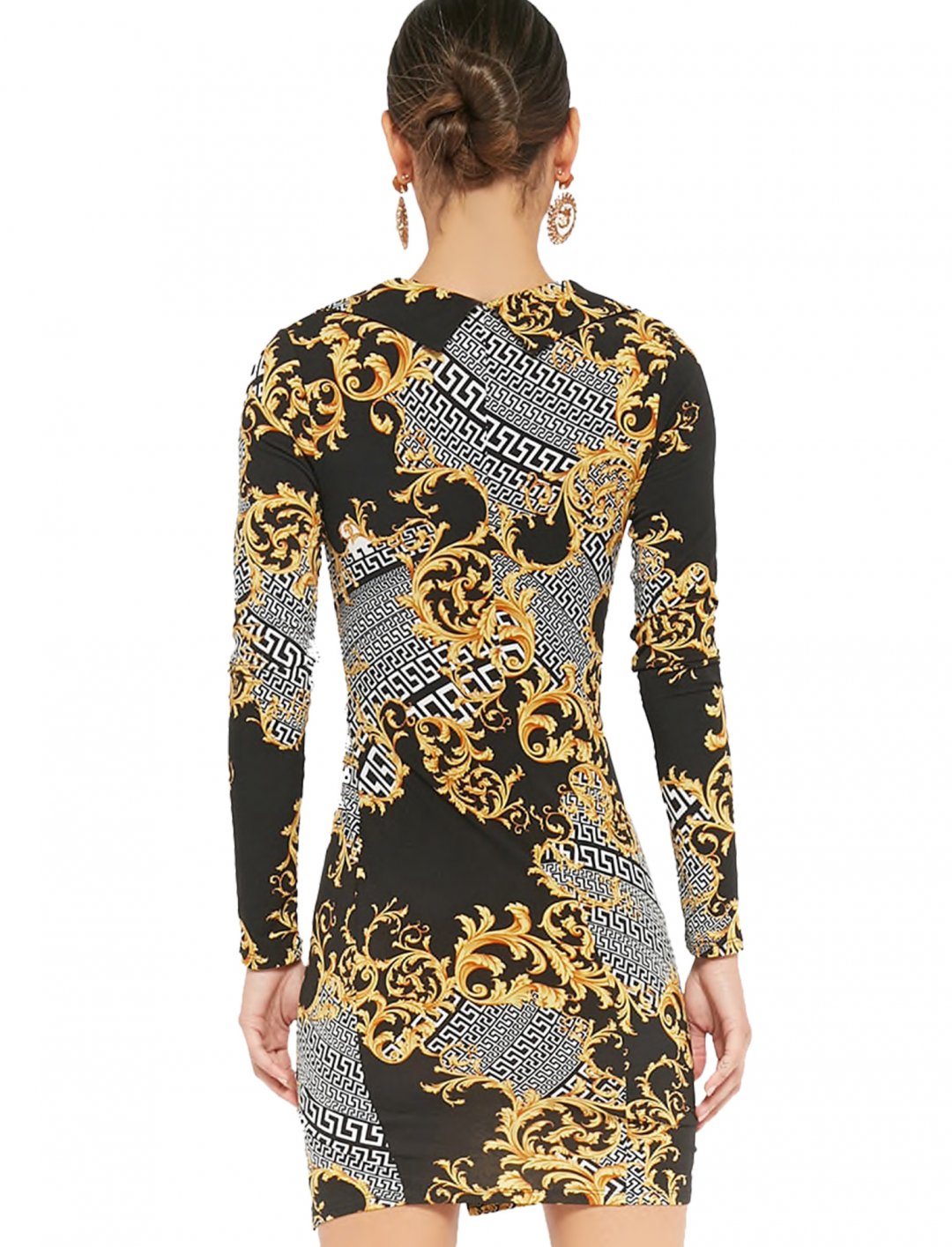 "Forever21 Geo Baroque Print Dress {""id"":5,""product_section_id"":1,""name"":""Clothing"",""order"":5} Forever21"