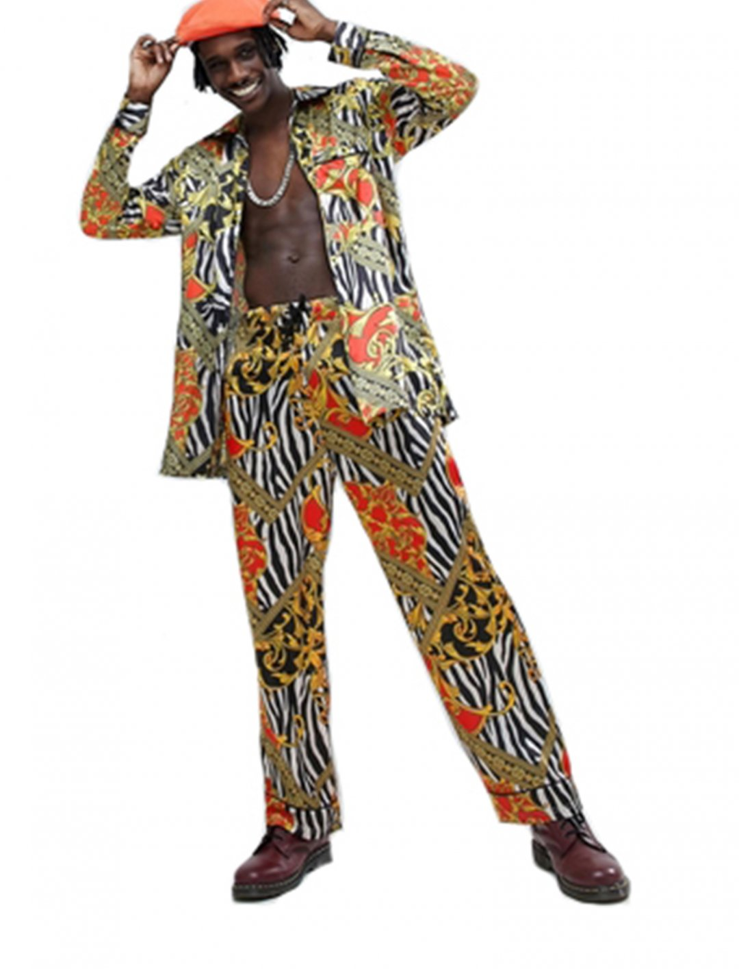 "Jaded London Zebra Baroque Print Shirt {""id"":5,""product_section_id"":1,""name"":""Clothing"",""order"":5} Jaded London"