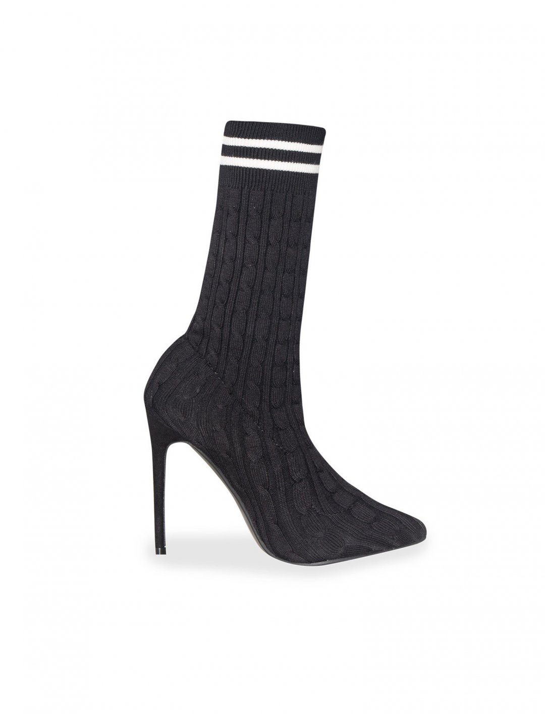 "Missy Empire Pointed Stripe Heels {""id"":12,""product_section_id"":1,""name"":""Shoes"",""order"":12} Missy Empire"