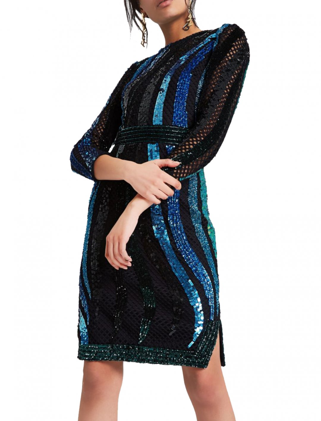 "River Island Green Sequin Dress {""id"":5,""product_section_id"":1,""name"":""Clothing"",""order"":5} River Island"