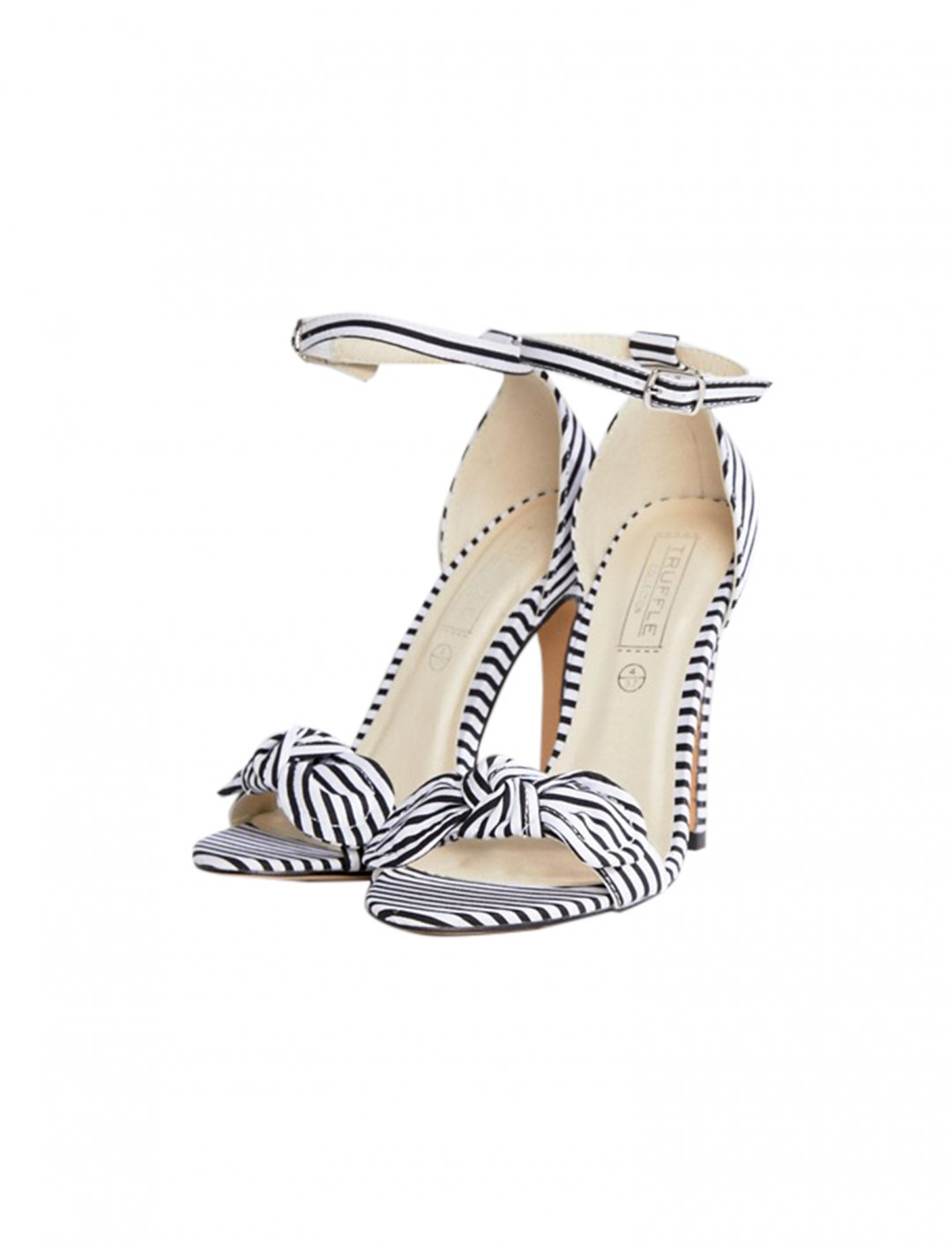 "Truffle Collection Bow Heeled Sandals {""id"":12,""product_section_id"":1,""name"":""Shoes"",""order"":12} Truffle Collection"