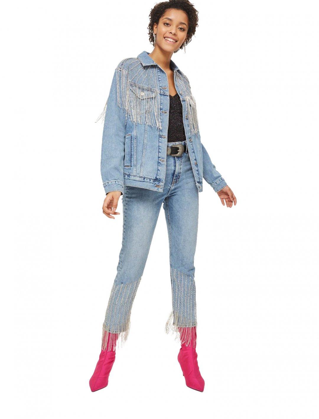 """Dazzle Fringe Jacket {""""id"""":5,""""product_section_id"""":1,""""name"""":""""Clothing"""",""""order"""":5} Moto"""