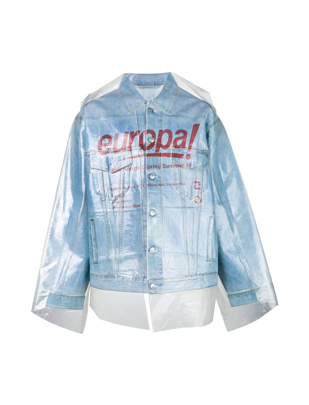 "Dry Clean Big Denim Jacket {""id"":5,""product_section_id"":1,""name"":""Clothing"",""order"":5} Balenciaga"