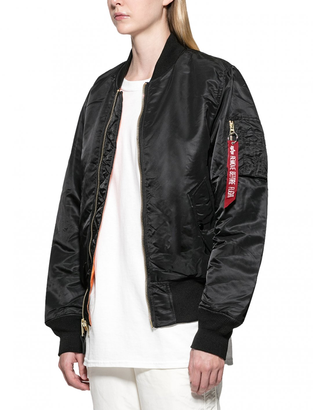 "MA-1 Blood Chit Flight Jacket {""id"":5,""product_section_id"":1,""name"":""Clothing"",""order"":5} Alpha Industries"