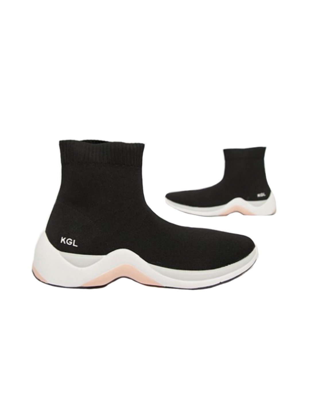 """Black Sock Trainers {""""id"""":5,""""product_section_id"""":1,""""name"""":""""Clothing"""",""""order"""":5} Kurt Geiger London"""