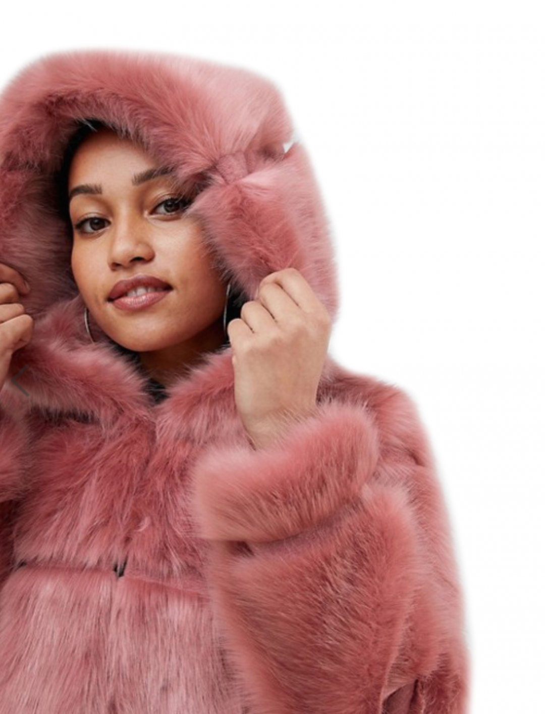 """Hooded Faux Fur Coat {""""id"""":5,""""product_section_id"""":1,""""name"""":""""Clothing"""",""""order"""":5} ASOS"""