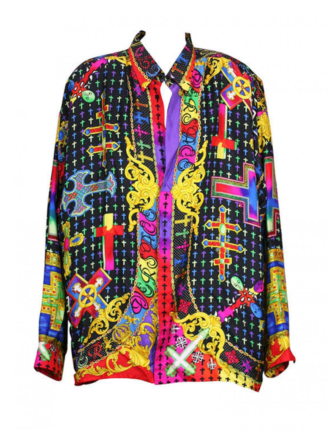 """Kodie Shane's Silk Printed Shirt {""""id"""":5,""""product_section_id"""":1,""""name"""":""""Clothing"""",""""order"""":5} Gianni Versace"""