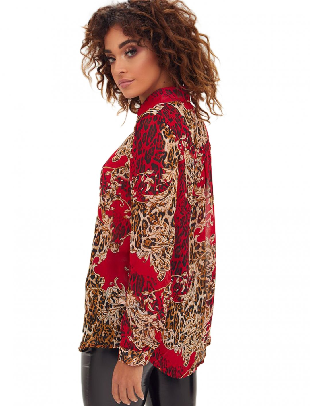 """Red Baroque Print Shirt {""""id"""":5,""""product_section_id"""":1,""""name"""":""""Clothing"""",""""order"""":5} PLT"""