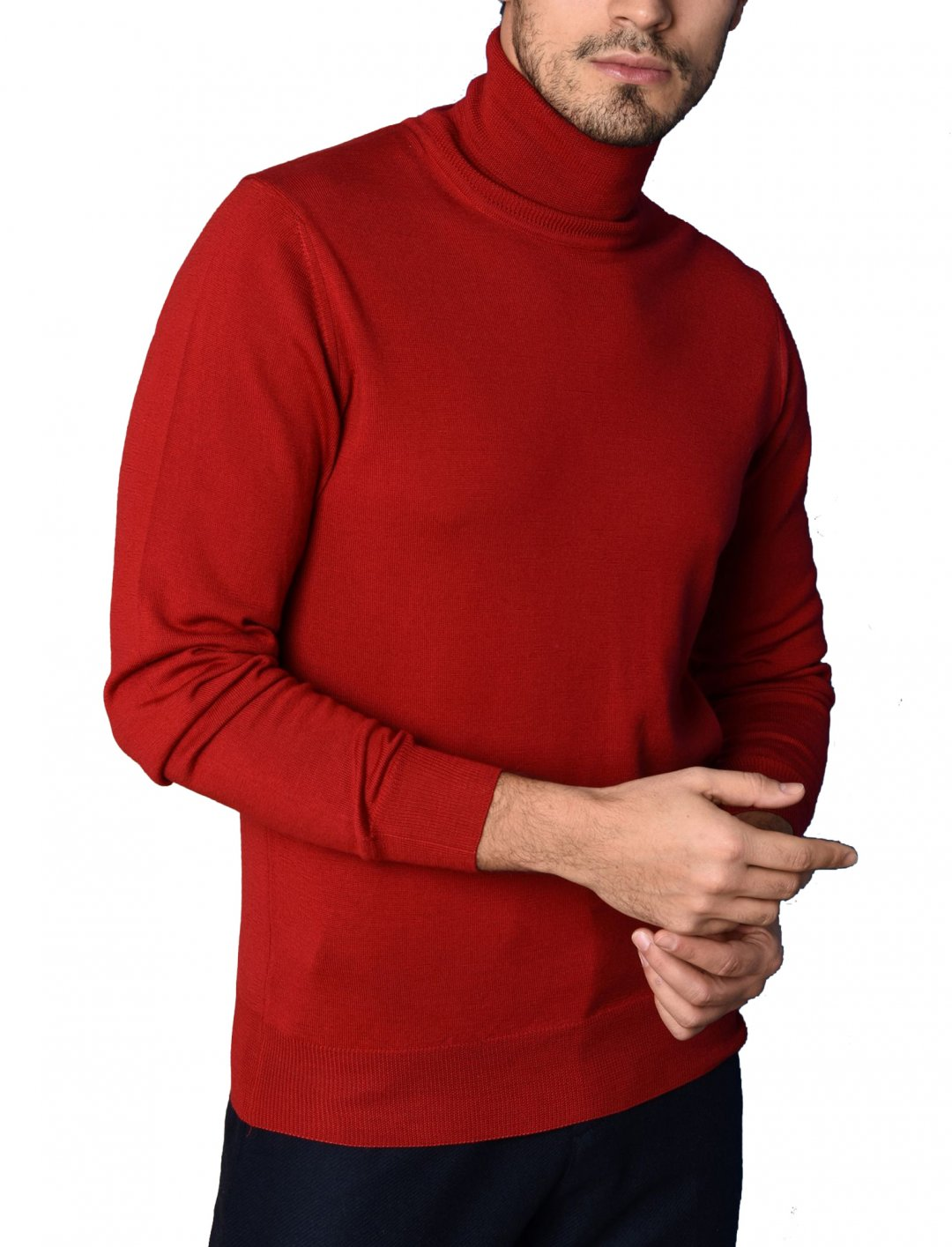 "8 Polo Neck Sweat {""id"":5,""product_section_id"":1,""name"":""Clothing"",""order"":5} 8"