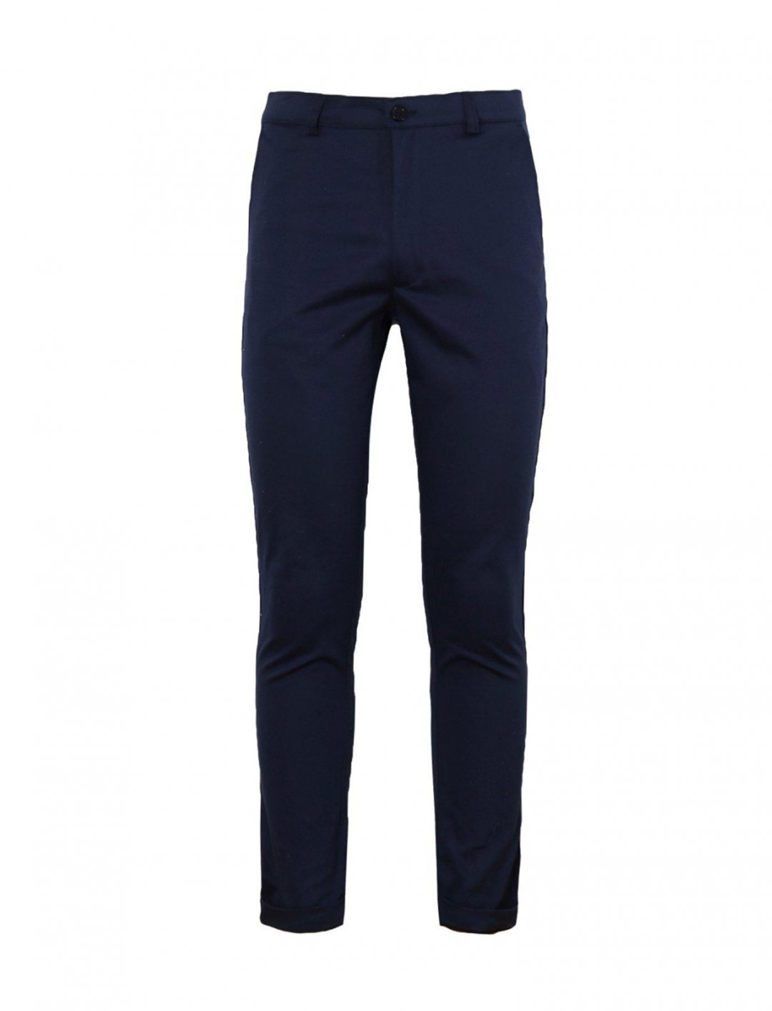 "BoohooMAN Navy Chino Trousers {""id"":5,""product_section_id"":1,""name"":""Clothing"",""order"":5} BoohooMAN"