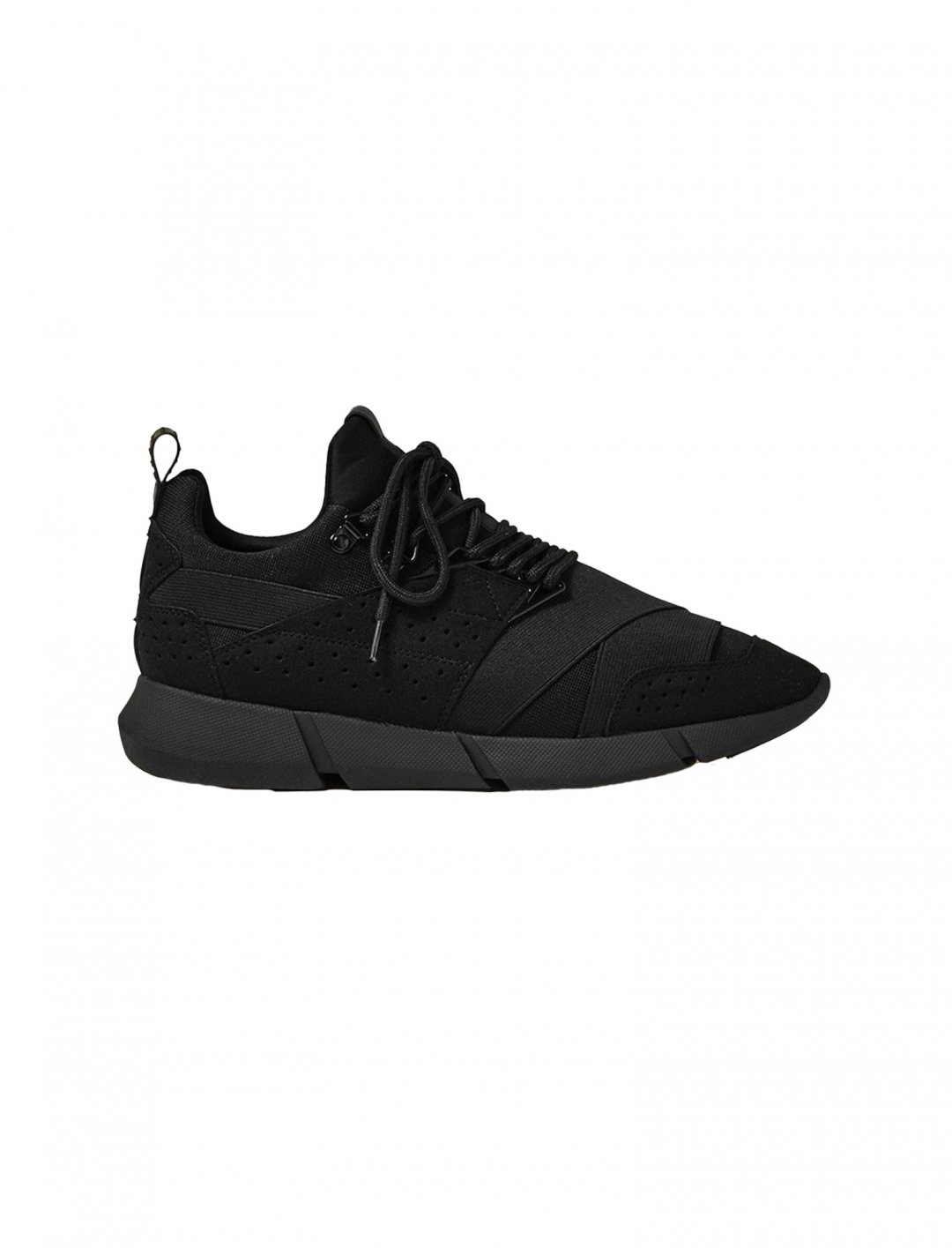 Cortica Black Canvas Trainers Shoes Cortica