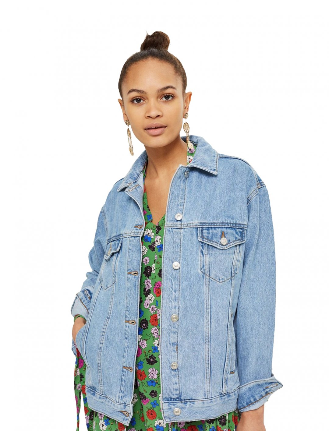 "Oversized Denim Jacket {""id"":5,""product_section_id"":1,""name"":""Clothing"",""order"":5} Moto"