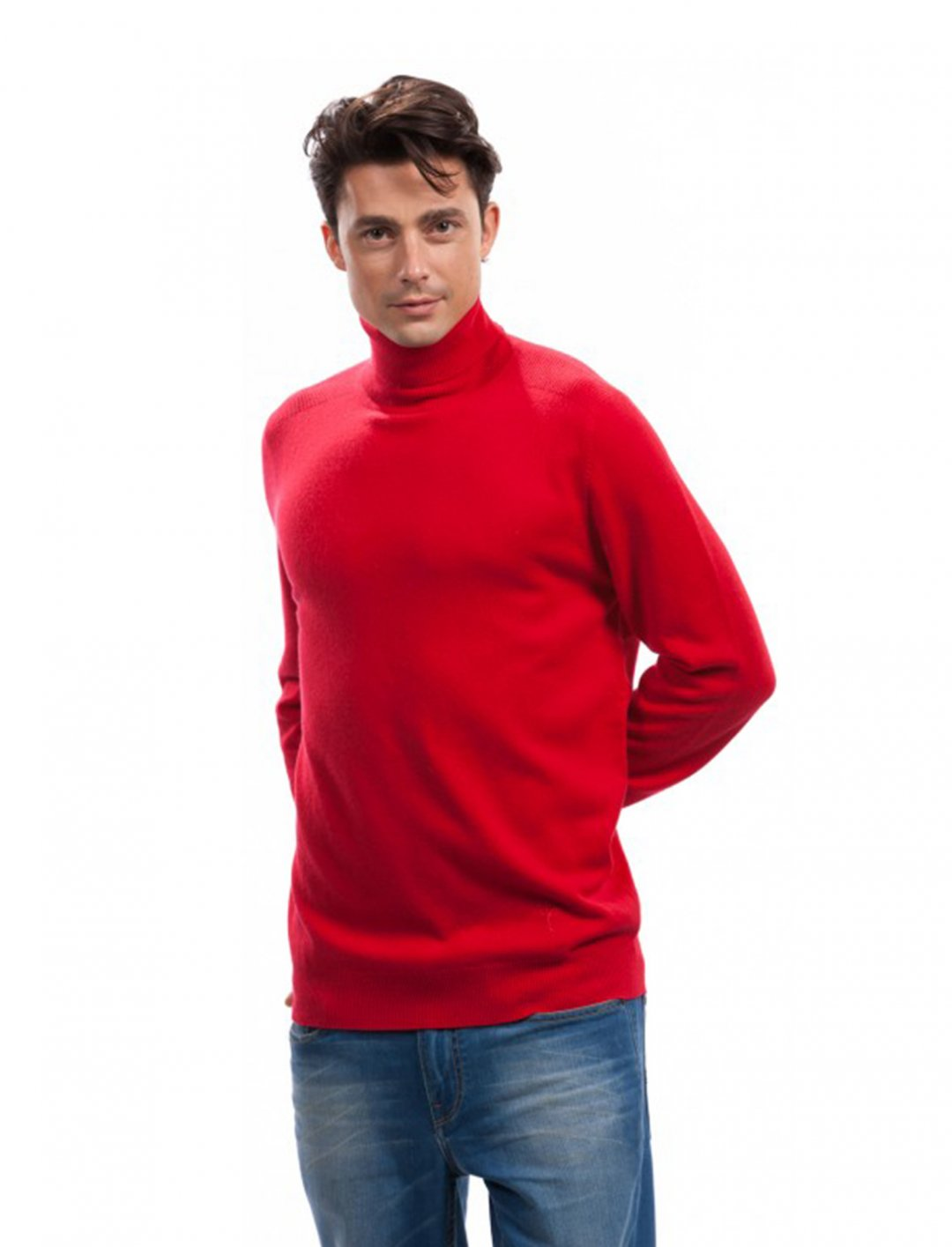 "Red Turtleneck {""id"":5,""product_section_id"":1,""name"":""Clothing"",""order"":5} Citizen Cashmere"