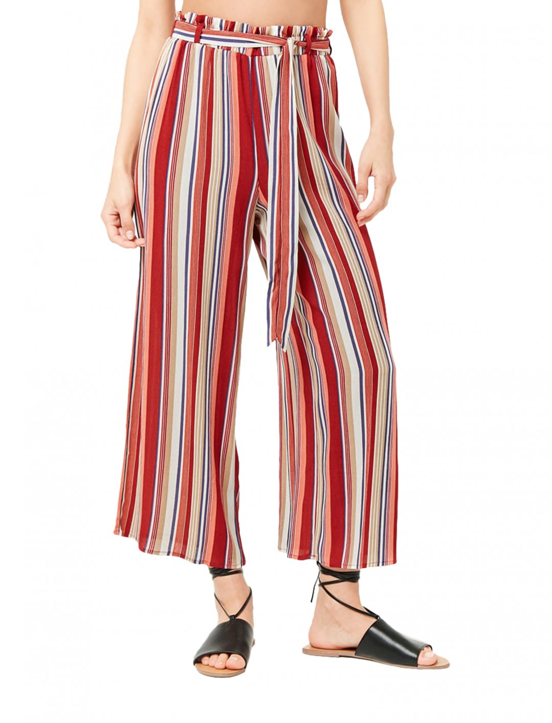 "Striped Cropped Wide-Leg Trousers {""id"":5,""product_section_id"":1,""name"":""Clothing"",""order"":5} Forever21"