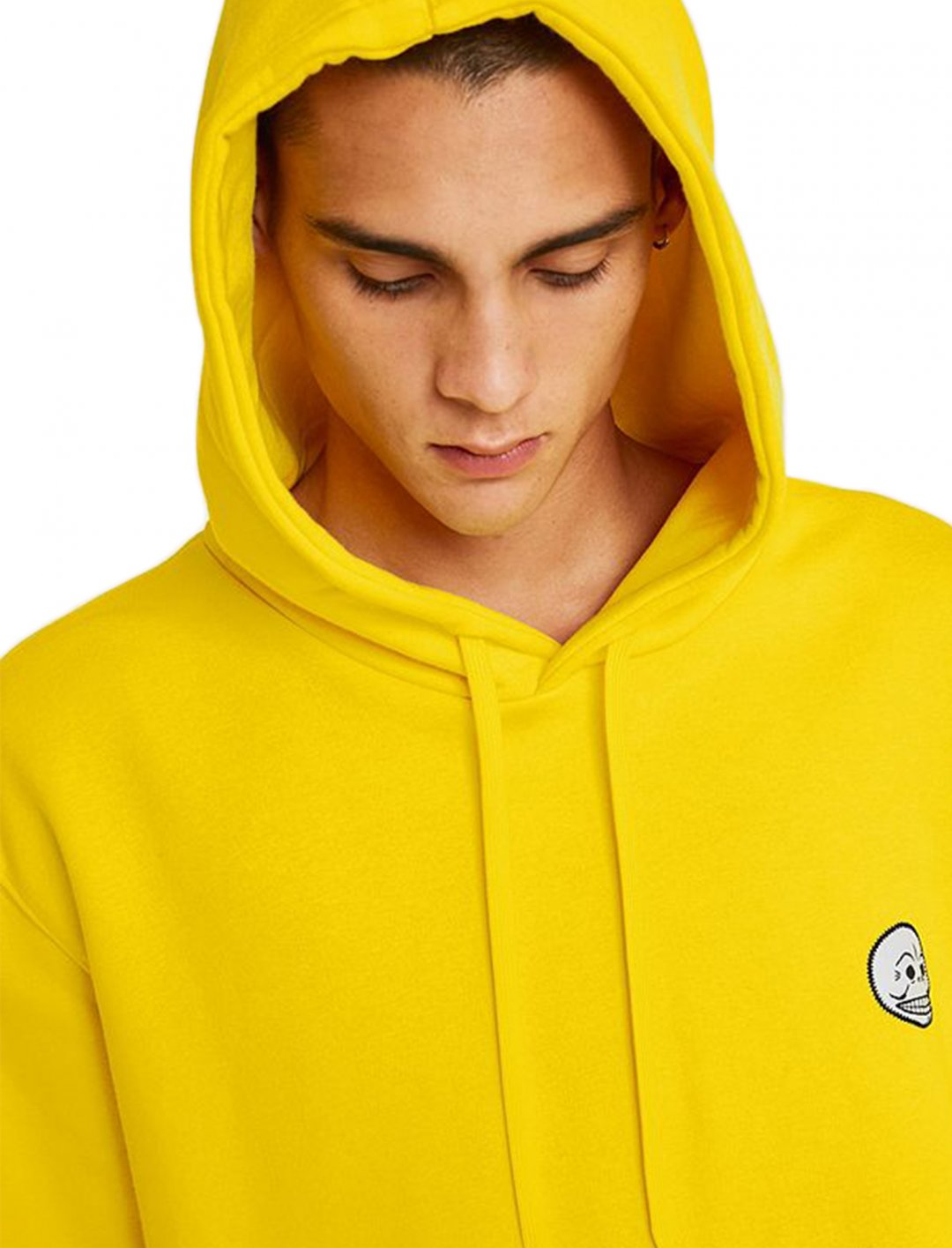 "Basic Skull Yellow Hoodie {""id"":5,""product_section_id"":1,""name"":""Clothing"",""order"":5} Cheap Monday"
