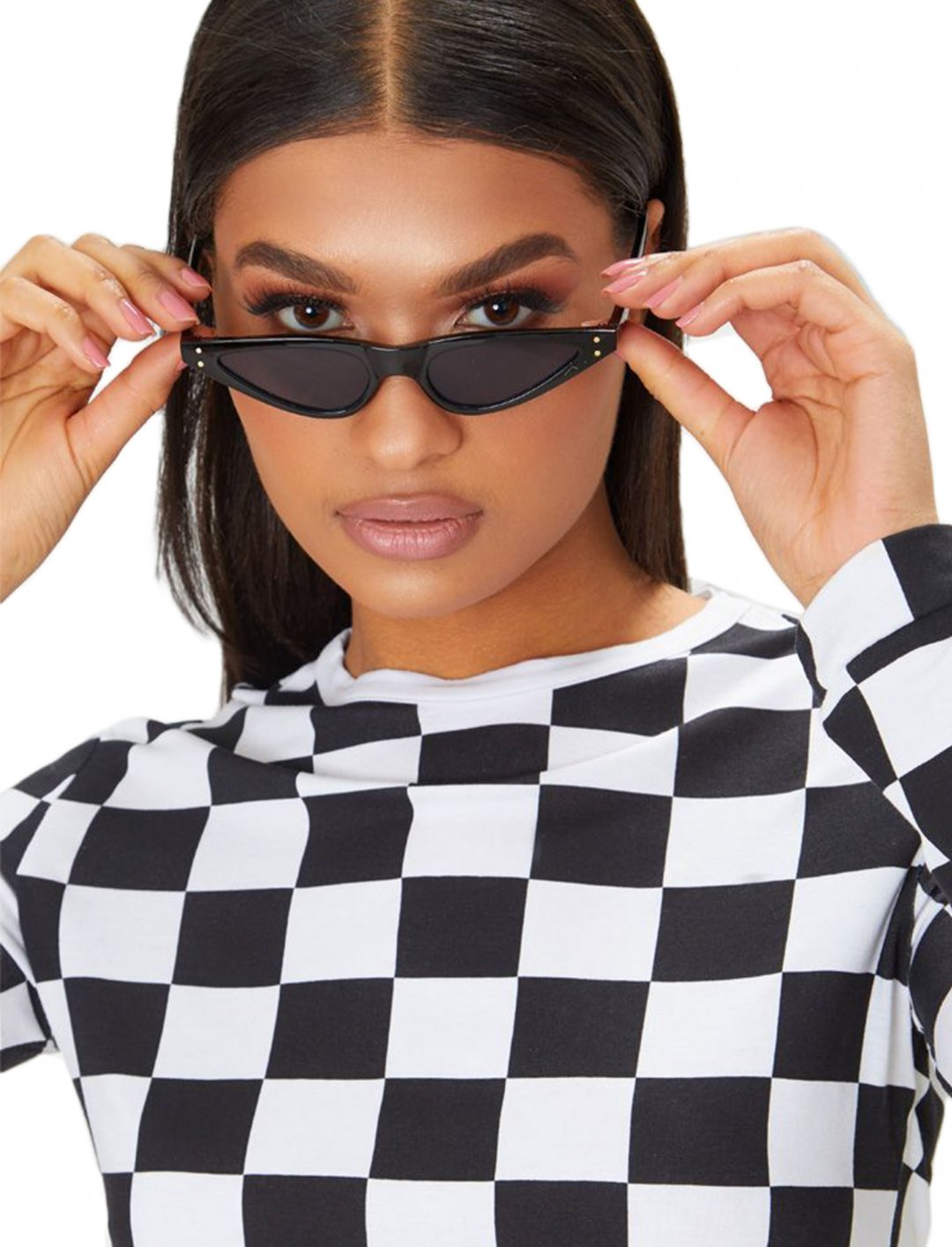 "Cat Eye Skinny Sunglasses {""id"":16,""product_section_id"":1,""name"":""Accessories"",""order"":15} PLT"