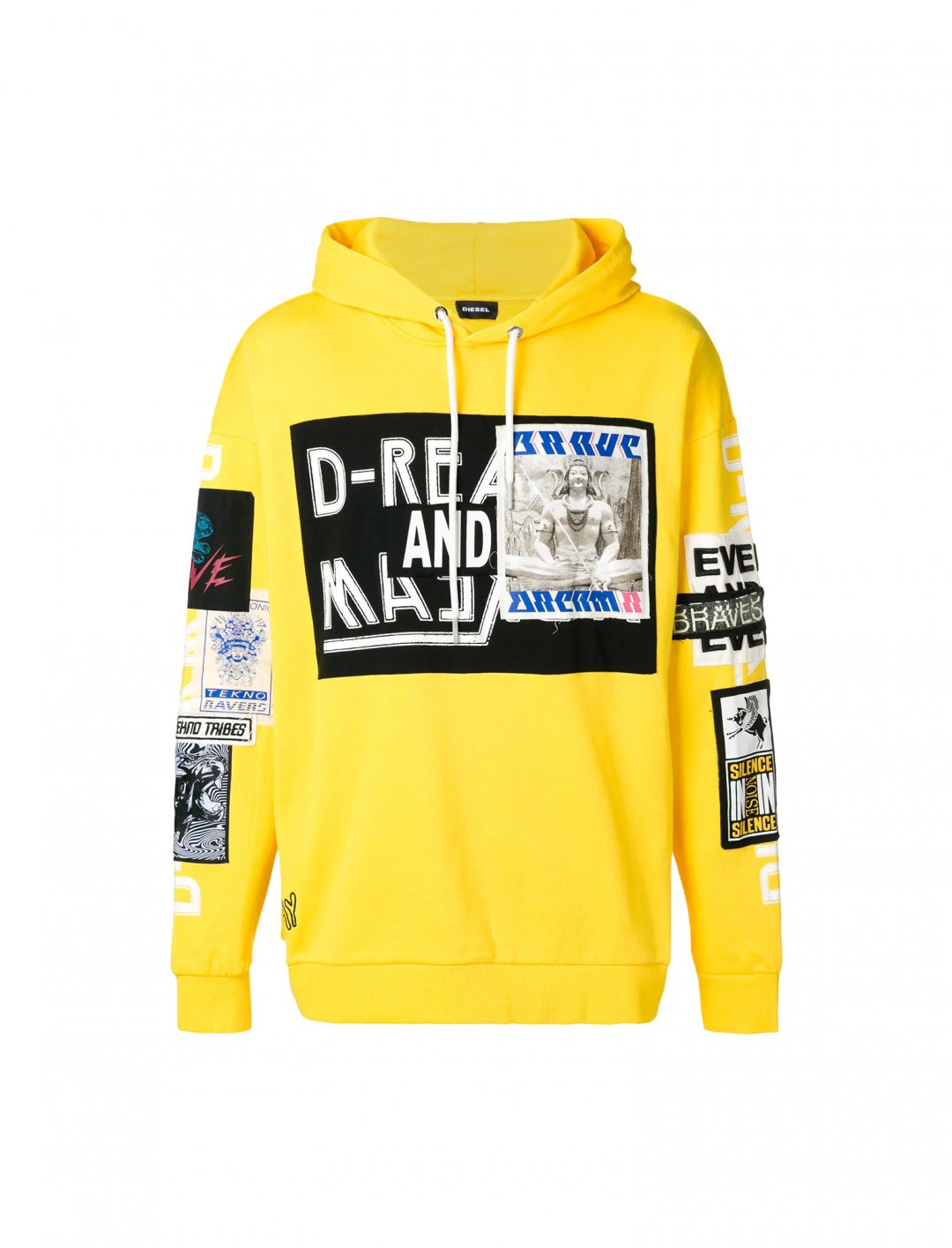 "Mr Eazi's Yellow Hoodie {""id"":5,""product_section_id"":1,""name"":""Clothing"",""order"":5} Diesel"