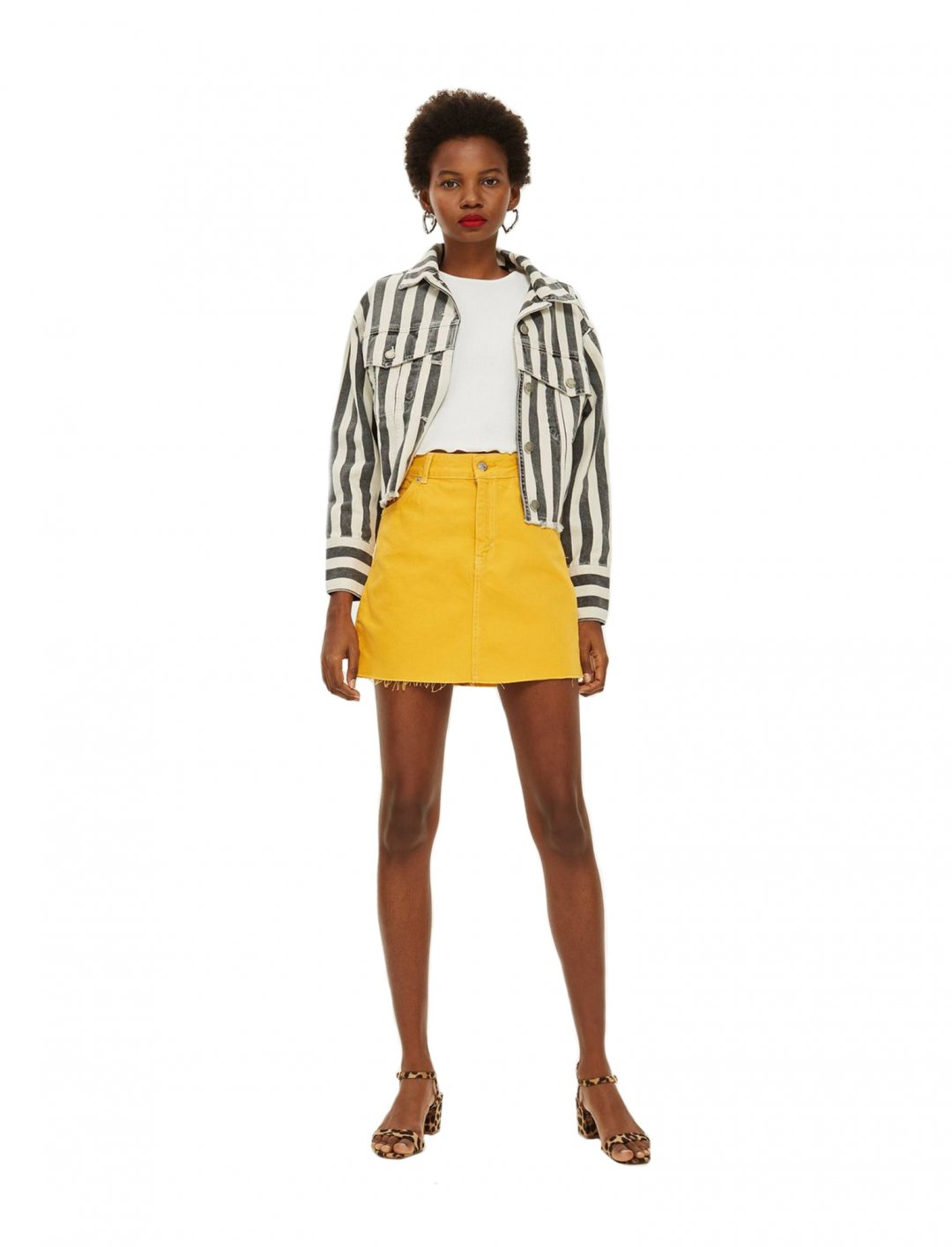 "Mustard Denim Skirt {""id"":5,""product_section_id"":1,""name"":""Clothing"",""order"":5} Topshop"