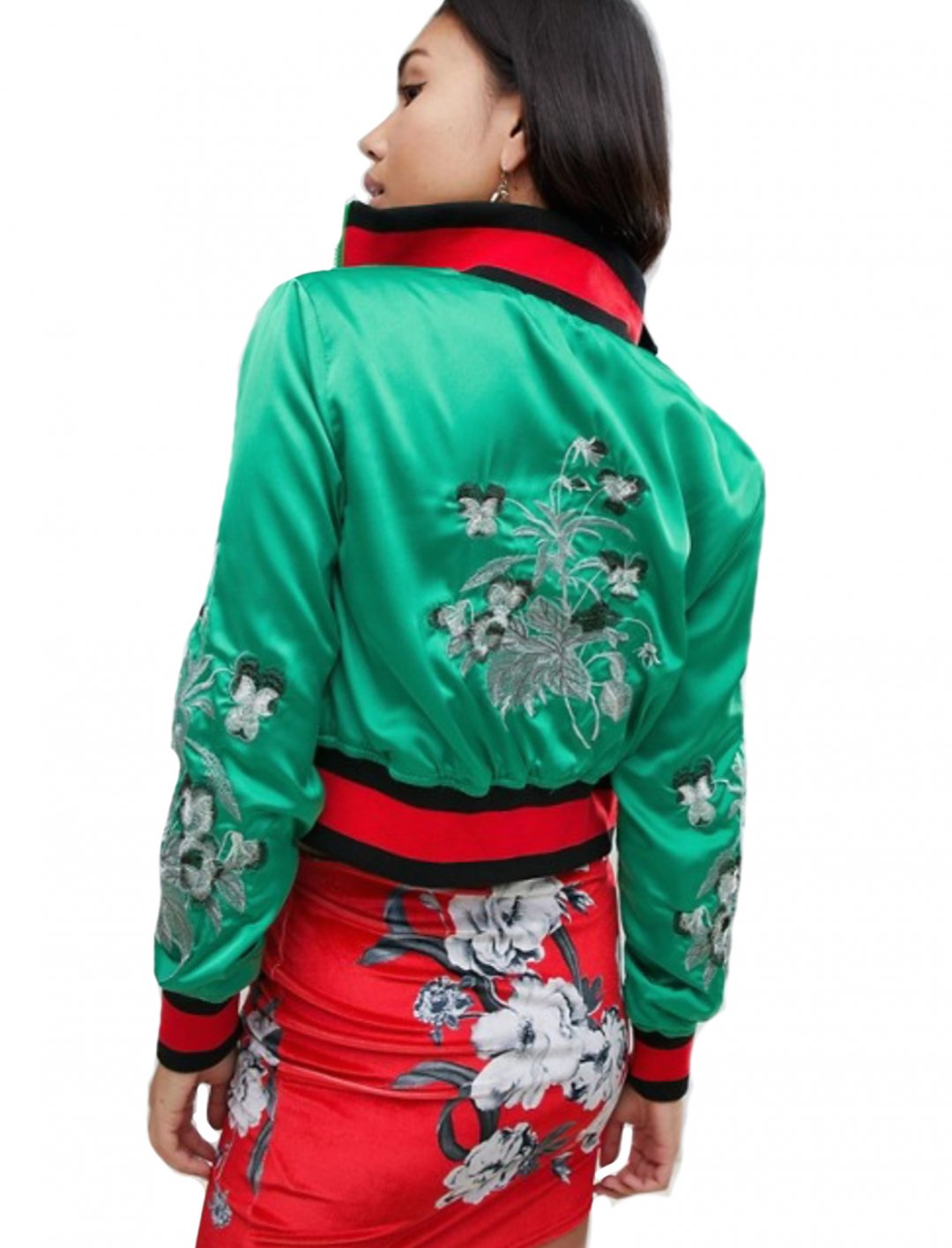 "Satin Embroidered Jacket {""id"":5,""product_section_id"":1,""name"":""Clothing"",""order"":5} Missguided"