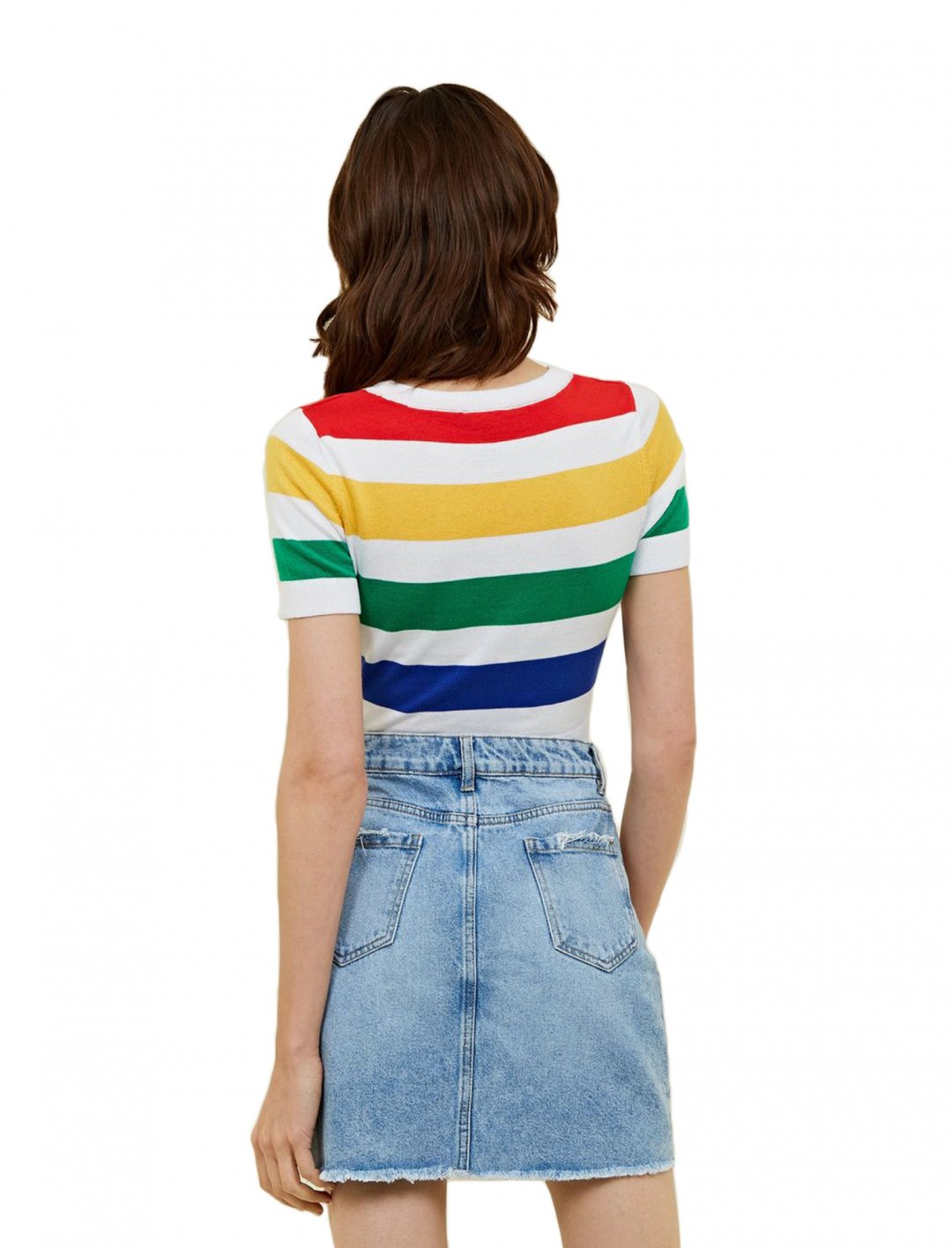 "Side Stripe Denim Skirt {""id"":5,""product_section_id"":1,""name"":""Clothing"",""order"":5} New Look"