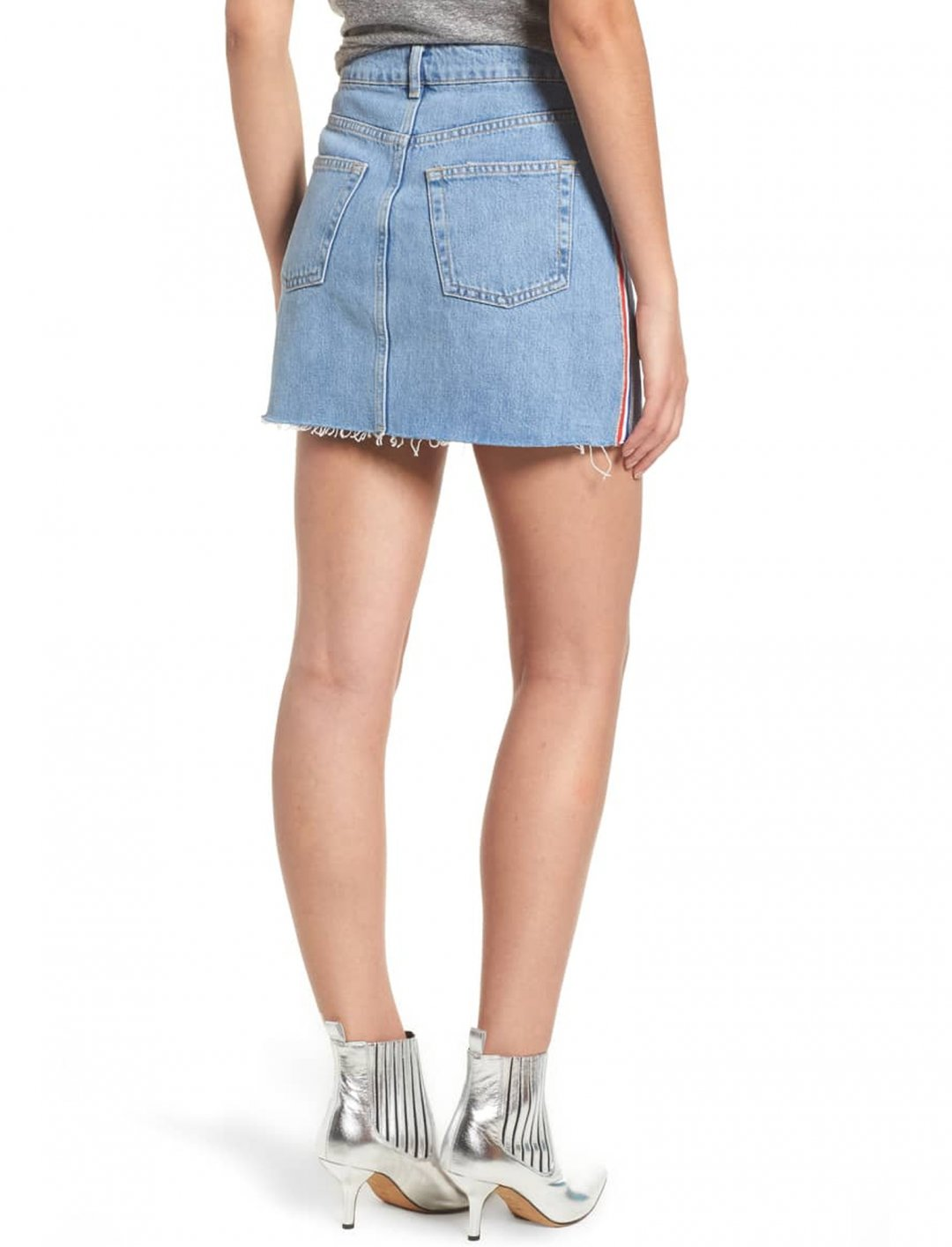 "Stripe Denim Skirt {""id"":5,""product_section_id"":1,""name"":""Clothing"",""order"":5} MOTO"