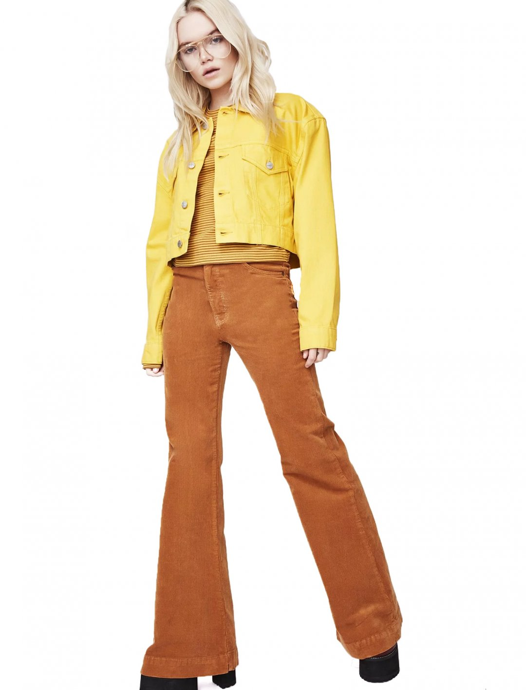 "Yellow Crop Denim Jacket {""id"":5,""product_section_id"":1,""name"":""Clothing"",""order"":5} Insight"