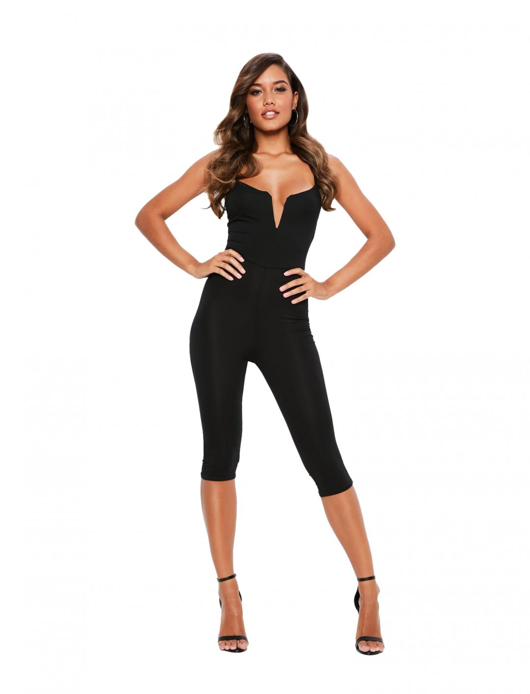 "Missguided Black Unitard Jumpsuit {""id"":5,""product_section_id"":1,""name"":""Clothing"",""order"":5} Missguided"