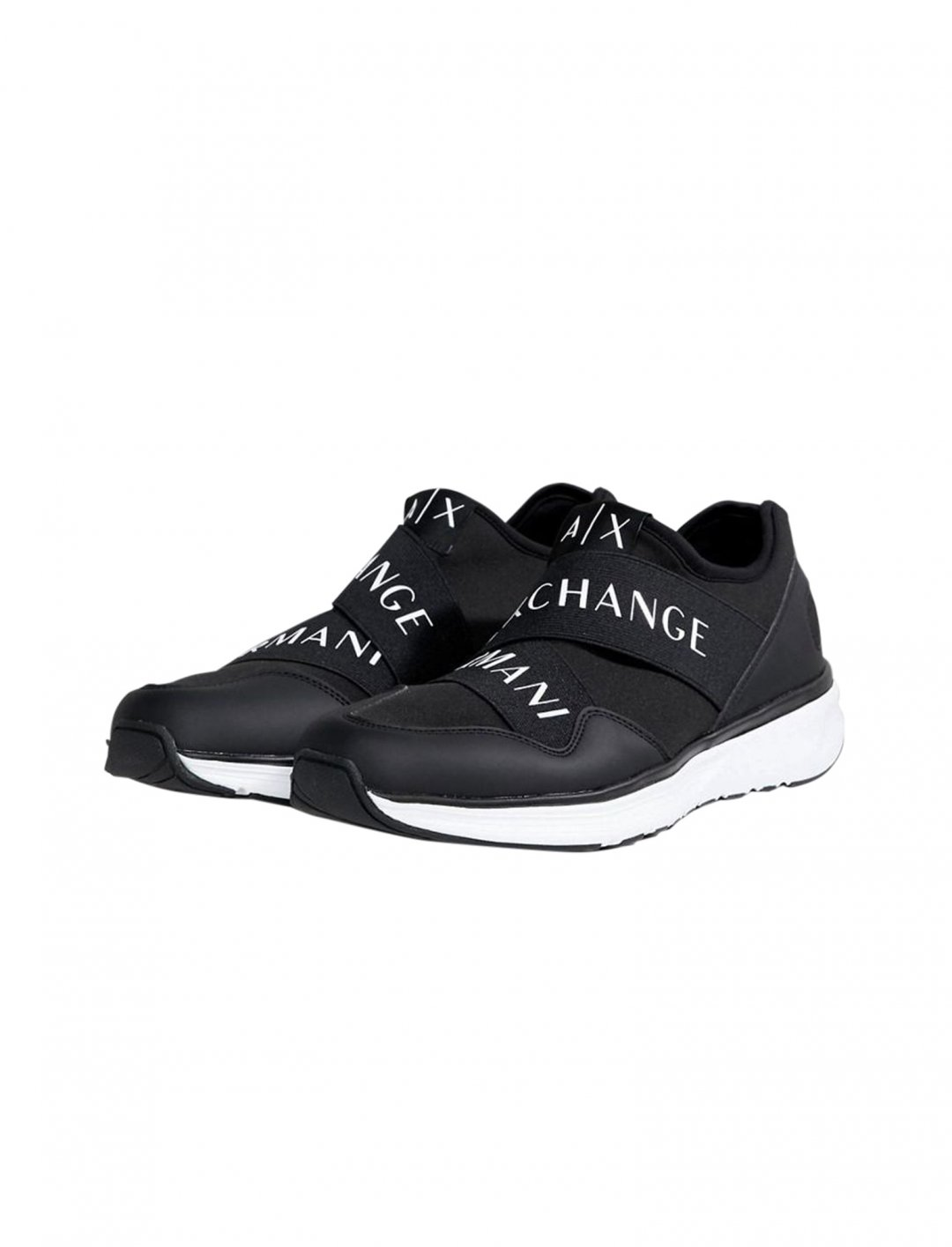 "Armani Exchange Strap Logo Running Trainers {""id"":12,""product_section_id"":1,""name"":""Shoes"",""order"":12} Armani Exchange"