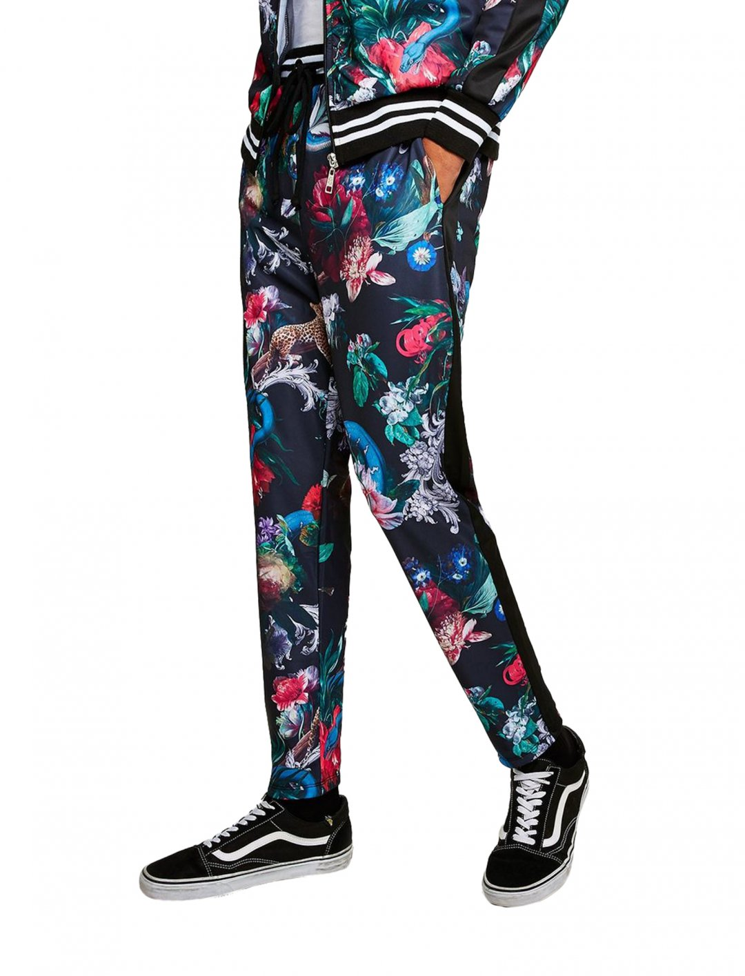 "Criminal Damage's Floral Print Track Pants {""id"":5,""product_section_id"":1,""name"":""Clothing"",""order"":5} Criminal Damage"