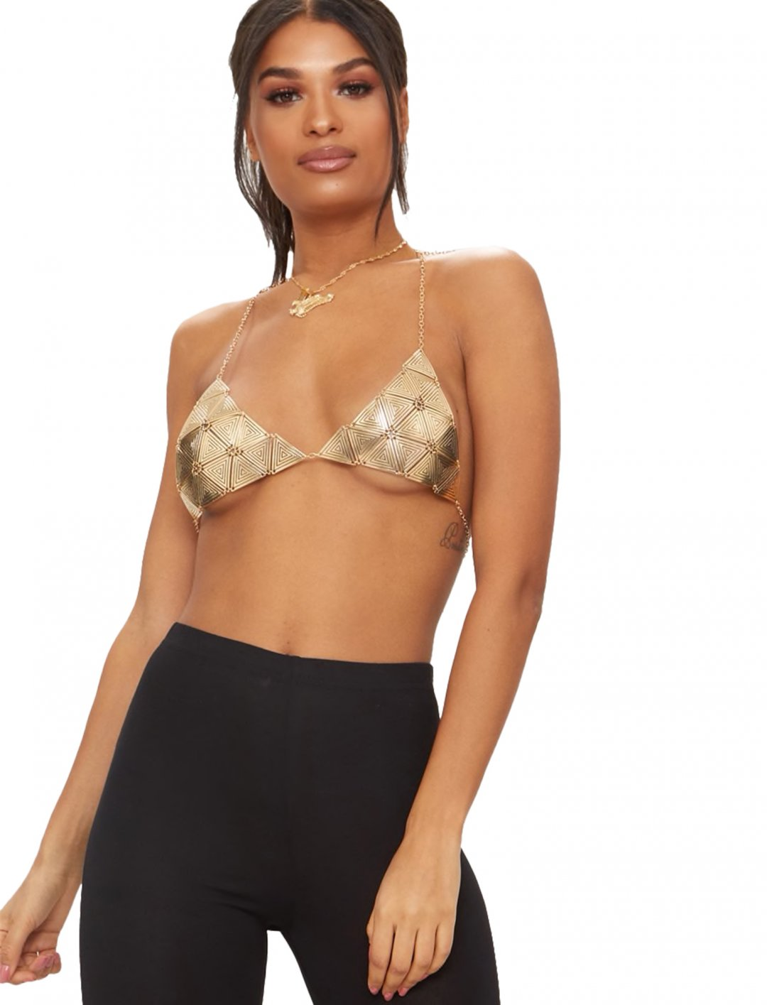 "Gold Triangle Bra {""id"":5,""product_section_id"":1,""name"":""Clothing"",""order"":5} Pretty Little Thing"