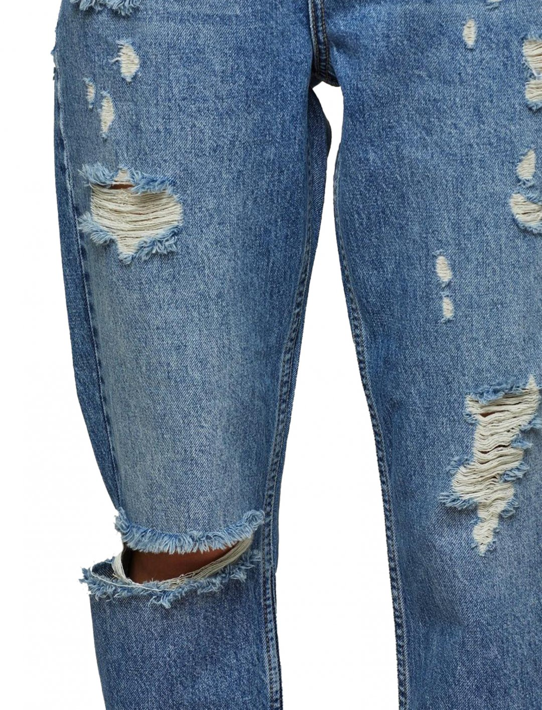 "Miss Selfridge Blue Ripped Jeans {""id"":5,""product_section_id"":1,""name"":""Clothing"",""order"":5} Miss Selfridge"