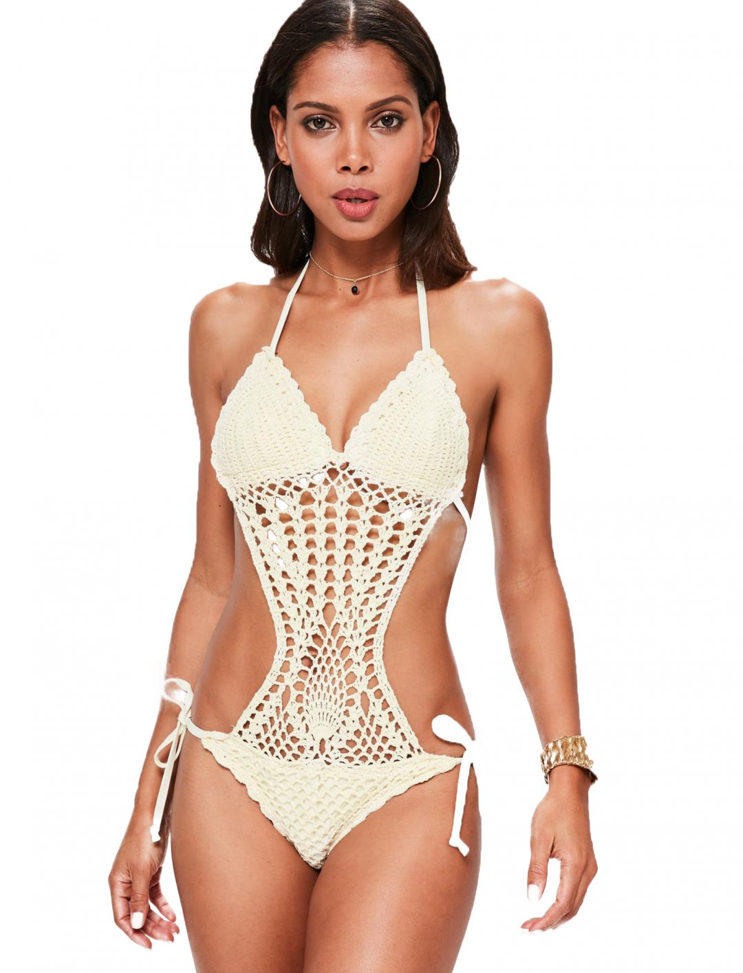 "Missguided Crochet Swimsuit {""id"":5,""product_section_id"":1,""name"":""Clothing"",""order"":5} Missguided"