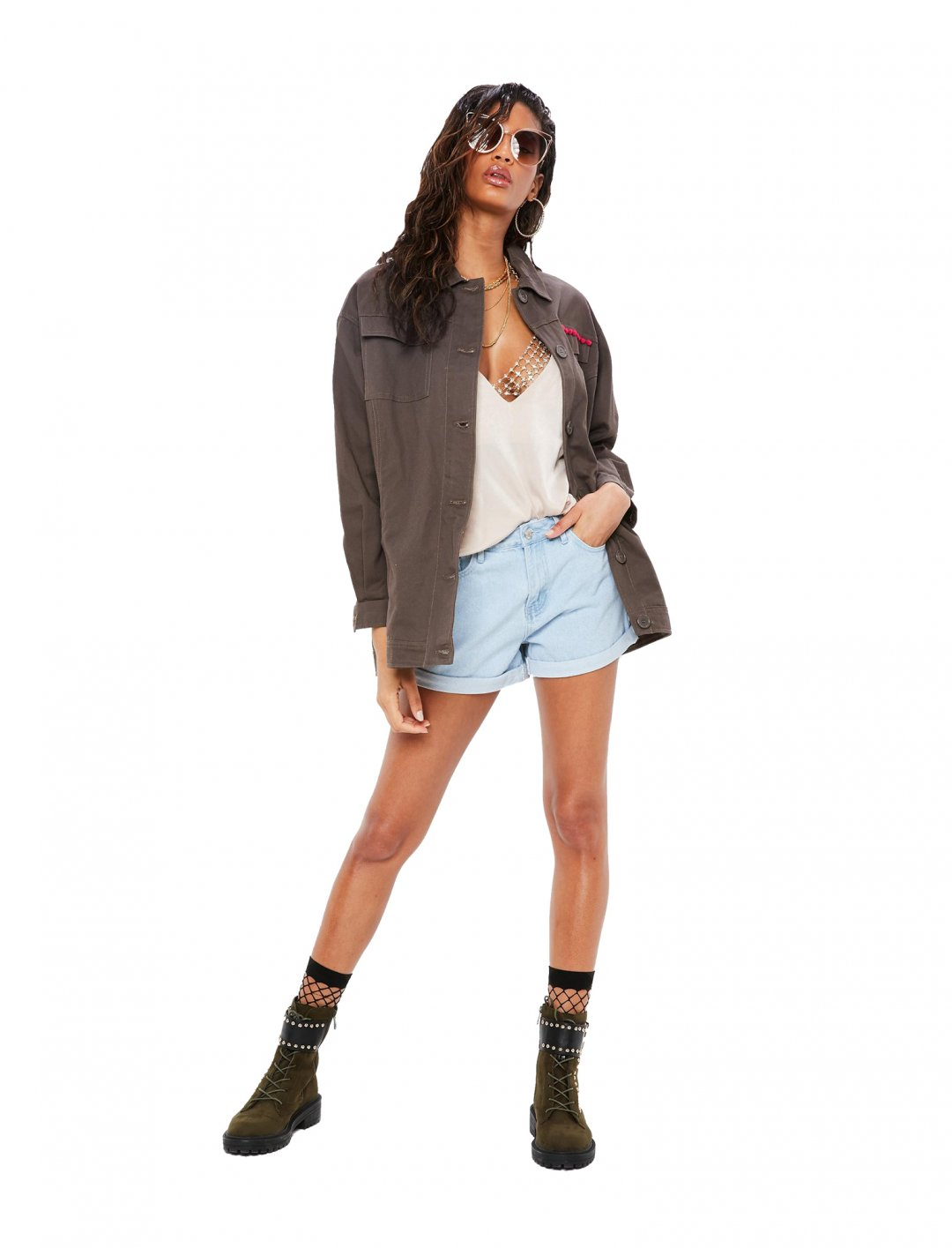 "Missguided Denim Shorts {""id"":5,""product_section_id"":1,""name"":""Clothing"",""order"":5} Missguided"