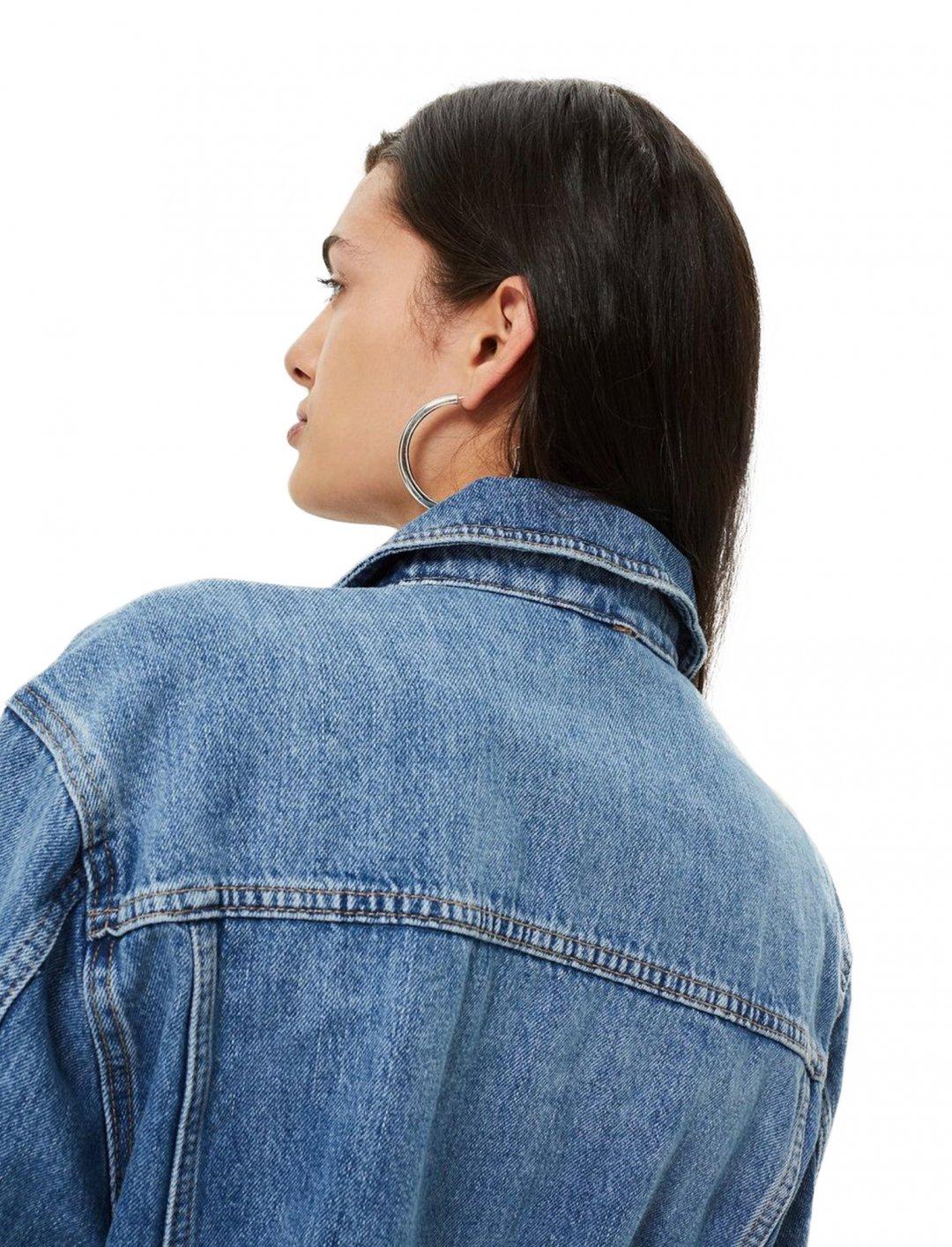 "Moto Oversized Denim Jacket {""id"":5,""product_section_id"":1,""name"":""Clothing"",""order"":5} Topshop"