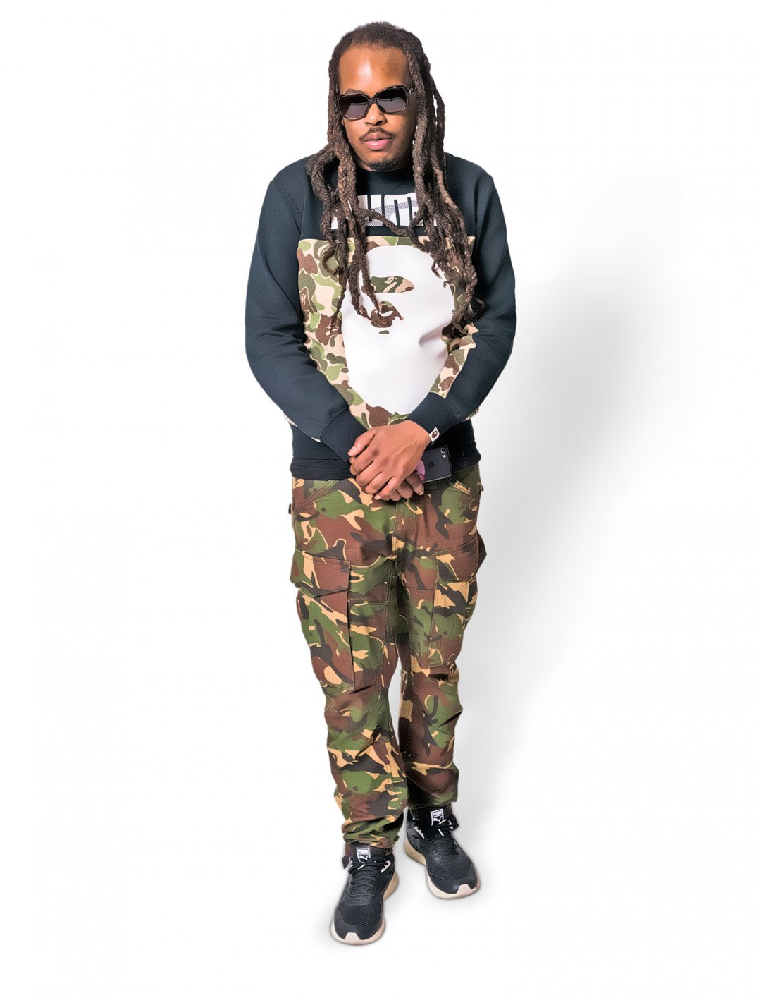 "Muttley's Camo Print Pants {""id"":5,""product_section_id"":1,""name"":""Clothing"",""order"":5} G-Star Raw"