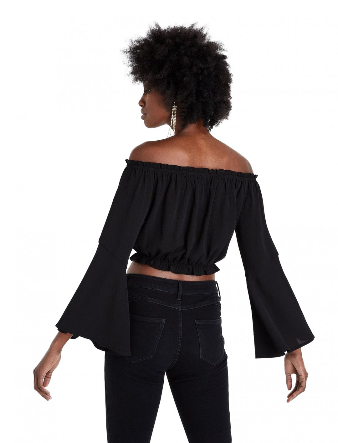 "New Look Bardot Crop Top {""id"":5,""product_section_id"":1,""name"":""Clothing"",""order"":5} New Look"