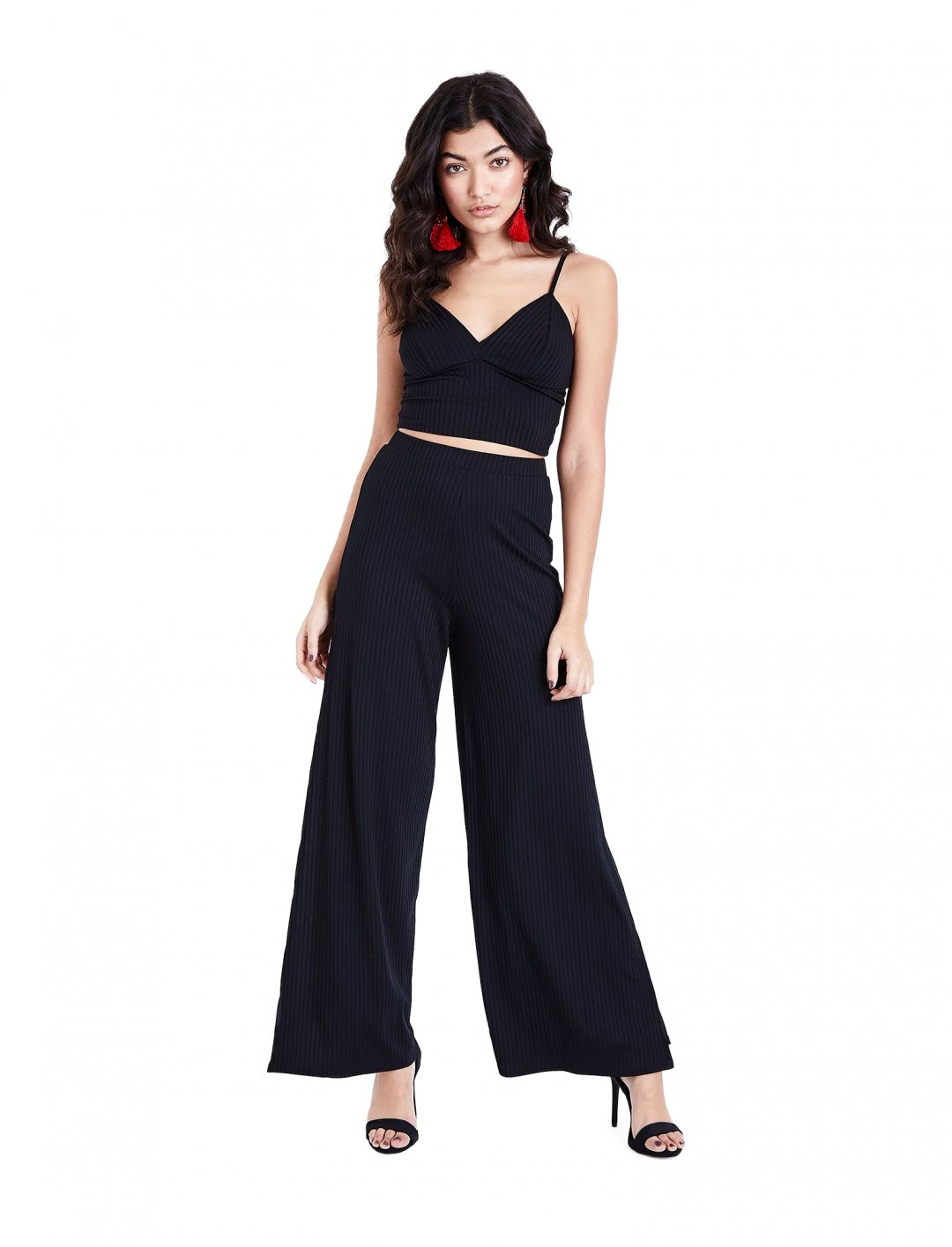 New Look Black Ribbed Bralet Clothing New Look