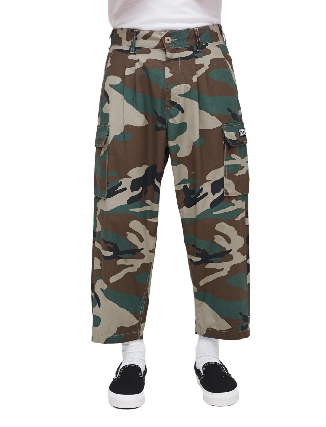 "Obey Fubar Camo Cargo Pants {""id"":5,""product_section_id"":1,""name"":""Clothing"",""order"":5} Obey"