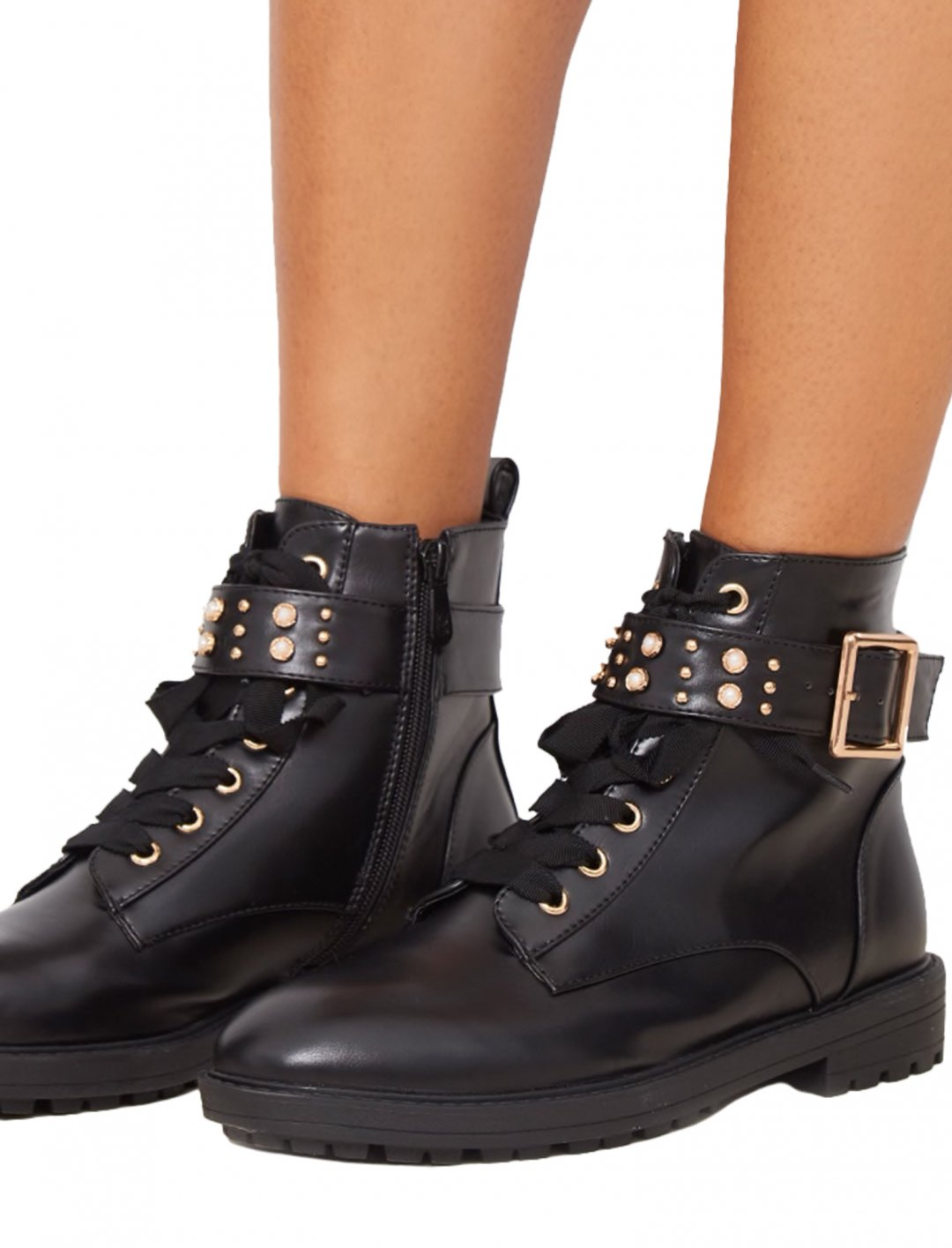 "Studded Hiker Boot {""id"":12,""product_section_id"":1,""name"":""Shoes"",""order"":12} Pretty Little Thing"