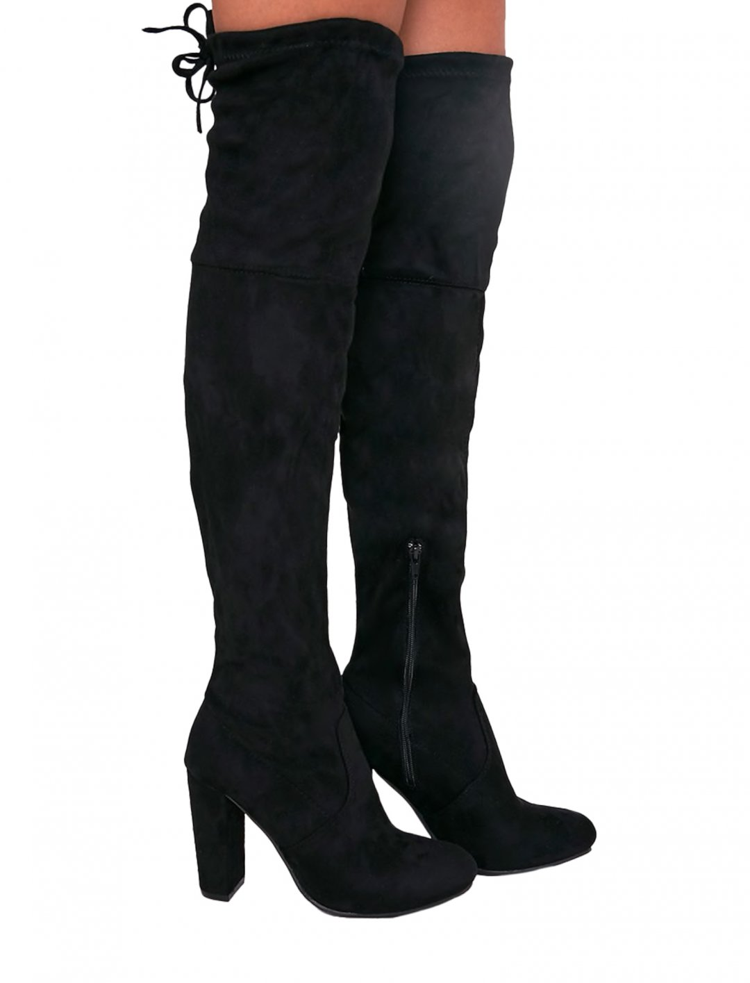 "Suede Heel Thigh Boots {""id"":12,""product_section_id"":1,""name"":""Shoes"",""order"":12} Pretty Little Thing"