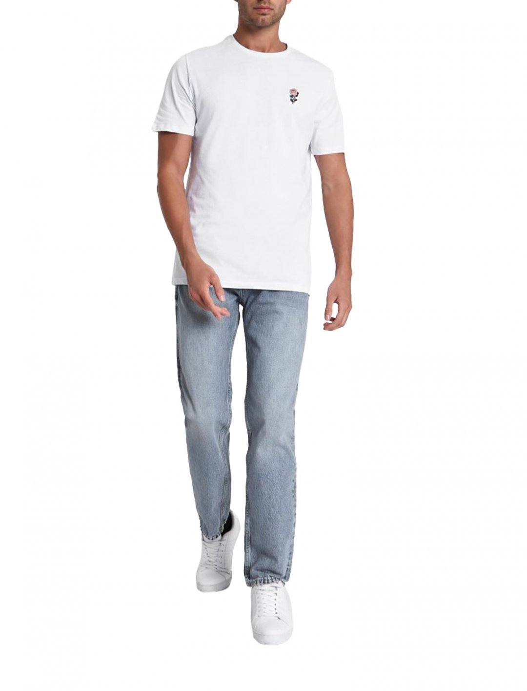 River Island Rose Embroidery Tee Clothing River Island