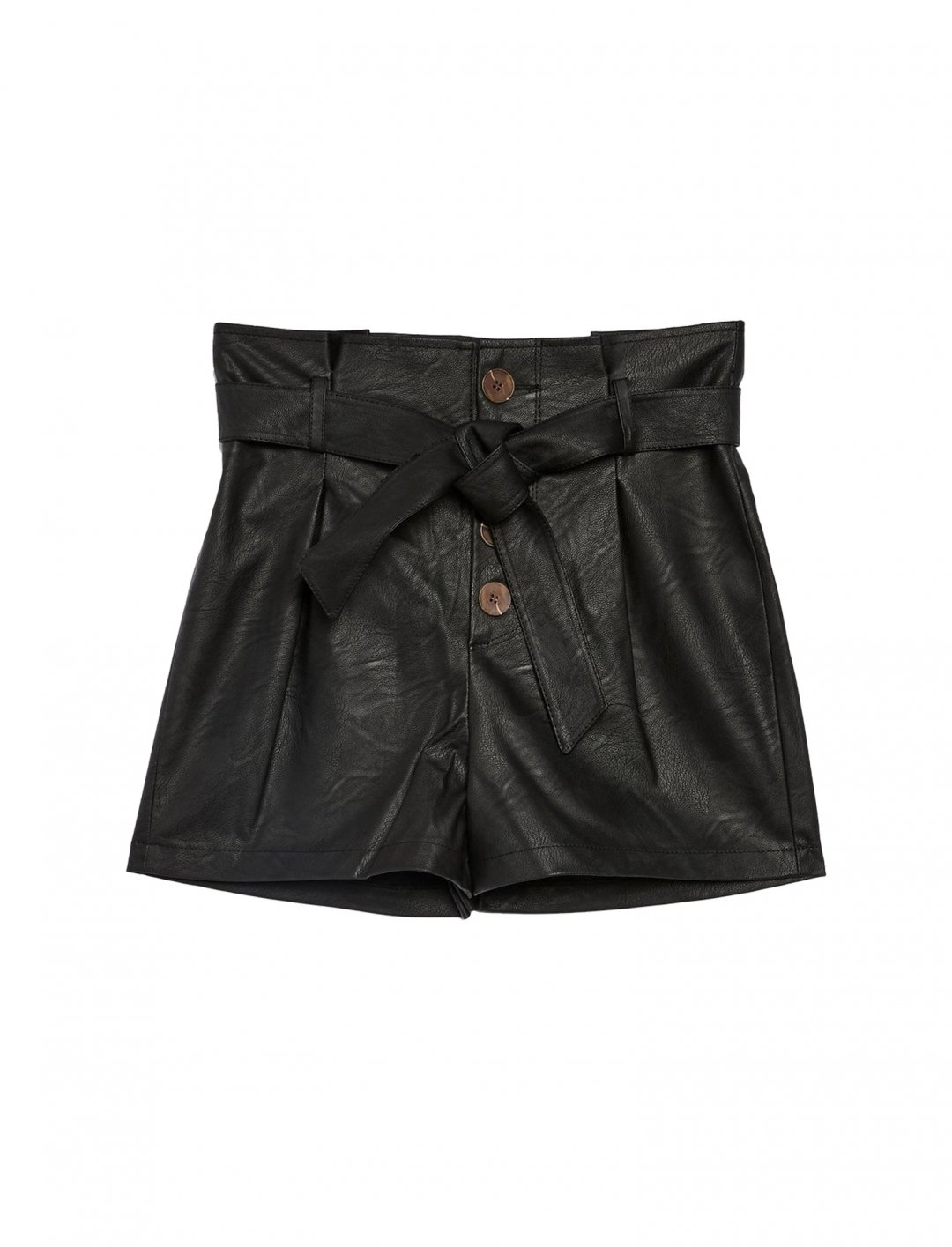 "Topshop Leather Paperbag Shorts {""id"":5,""product_section_id"":1,""name"":""Clothing"",""order"":5} Topshop"