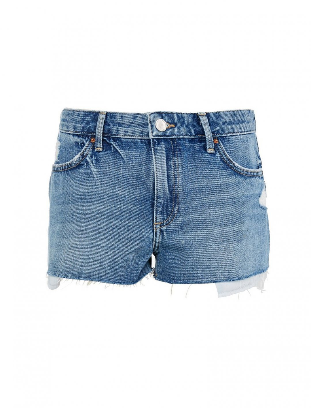 "Topshop Mid Blue Cory Shorts {""id"":5,""product_section_id"":1,""name"":""Clothing"",""order"":5} Topshop"