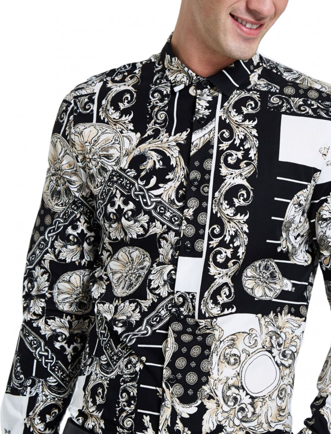 "Baroque Print Shirt {""id"":5,""product_section_id"":1,""name"":""Clothing"",""order"":5} River Island"