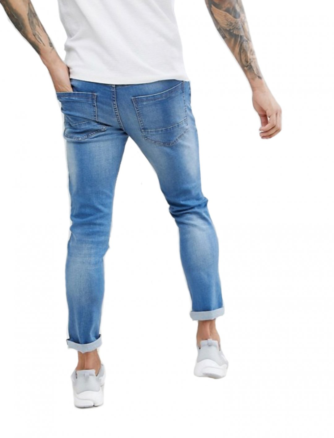 "Biker Jeans In Mid Blue {""id"":5,""product_section_id"":1,""name"":""Clothing"",""order"":5} Threadbare"