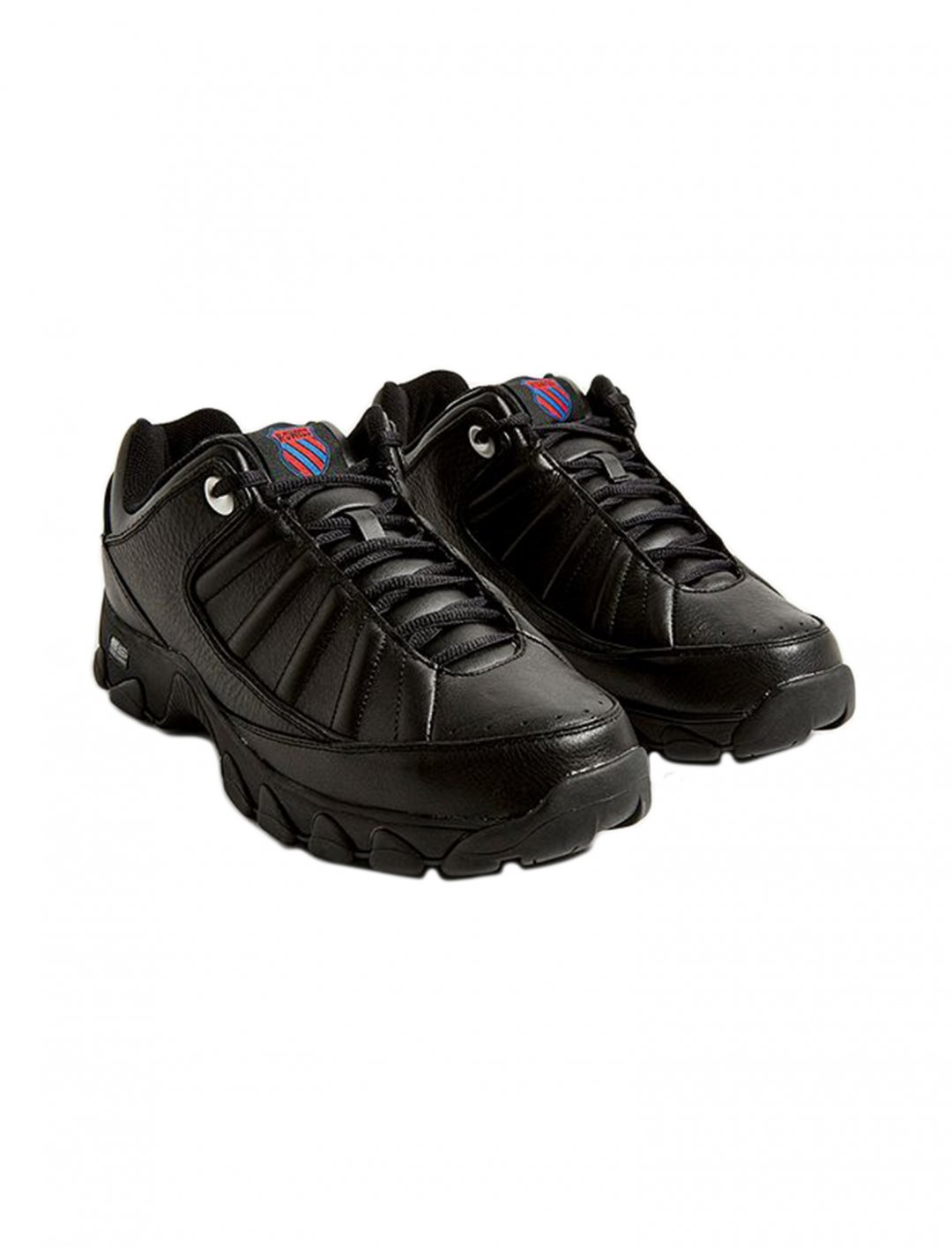"Black Heritage Trainers {""id"":12,""product_section_id"":1,""name"":""Shoes"",""order"":12} K-Swiss"