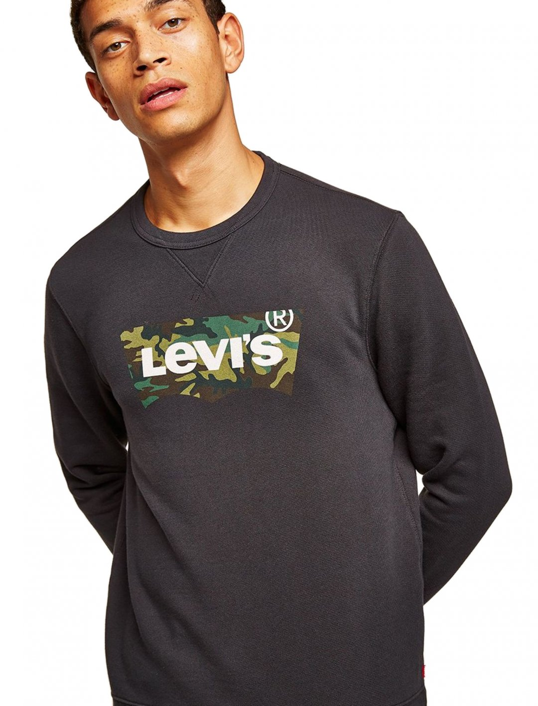"Black Logo Sweatshirt {""id"":5,""product_section_id"":1,""name"":""Clothing"",""order"":5} Levi's"